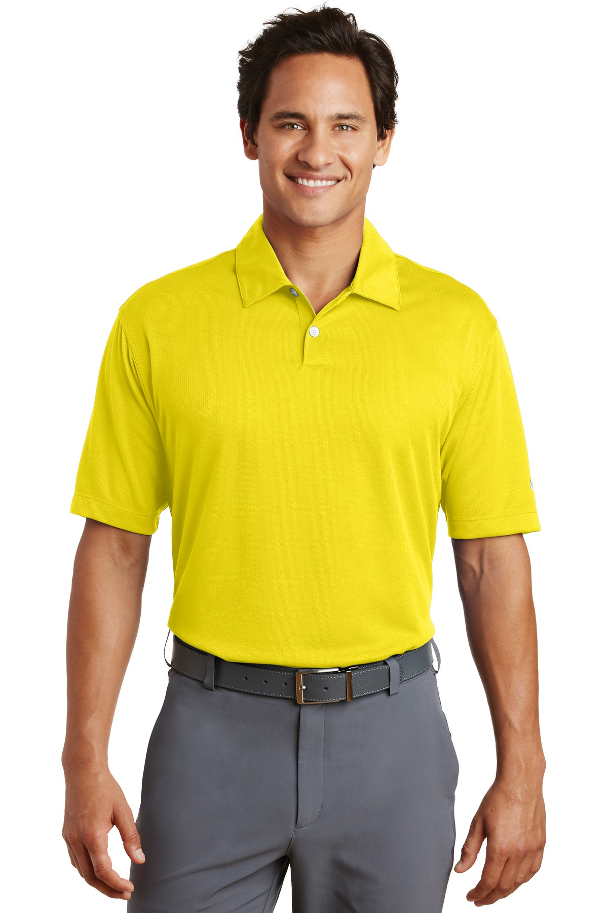 Nike Dri-FIT Pebble Texture Polo. 373749 - Tour Yellow