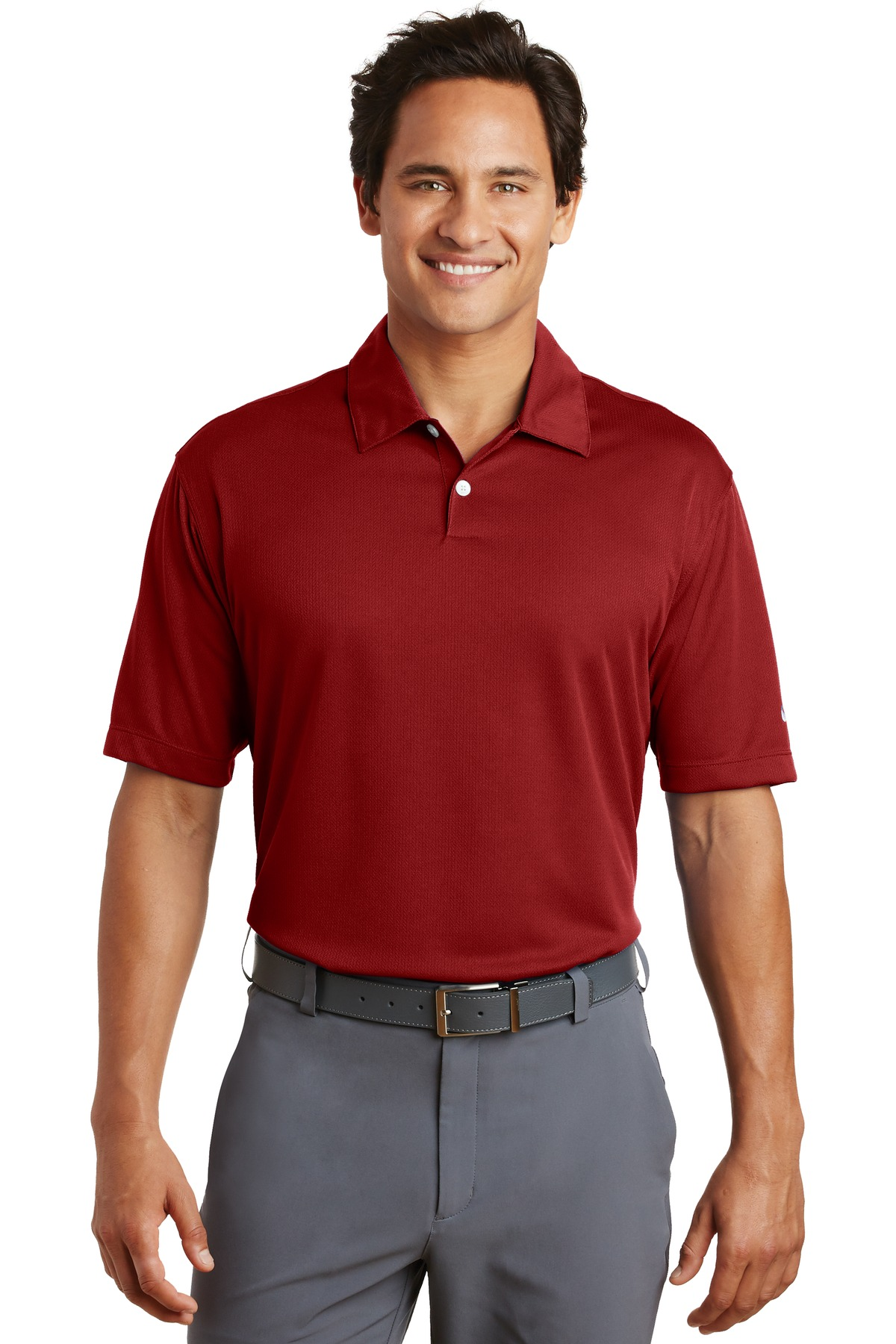 Nike Dri-FIT Pebble Texture Polo. 373749 - Varsity Red