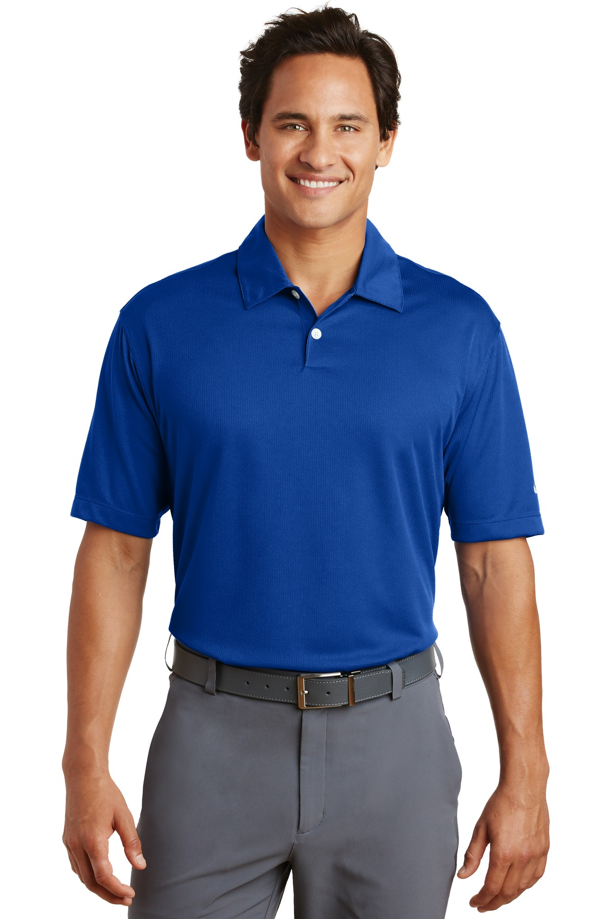Nike Dri-FIT Pebble Texture Polo. 373749 - Varsity Royal