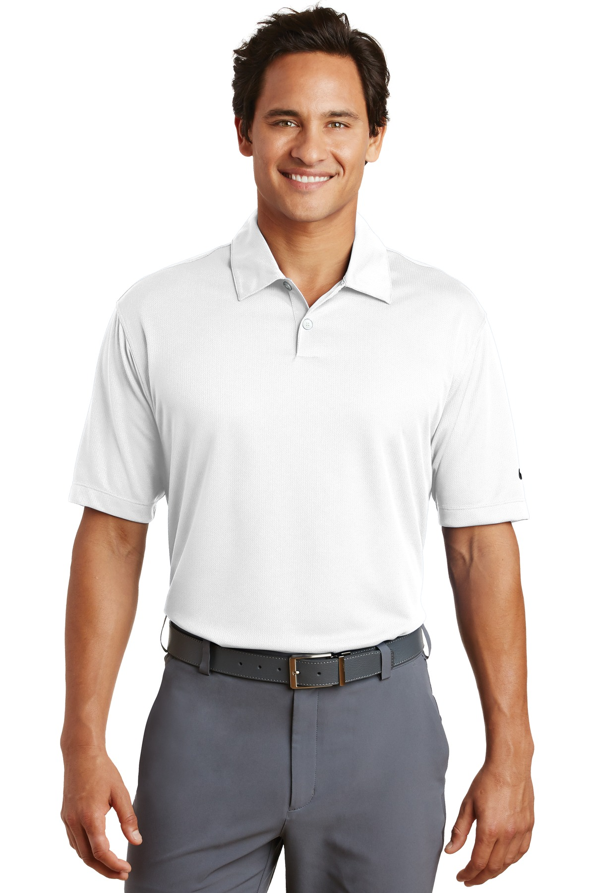Nike Dri-FIT Pebble Texture Polo. 373749 - White