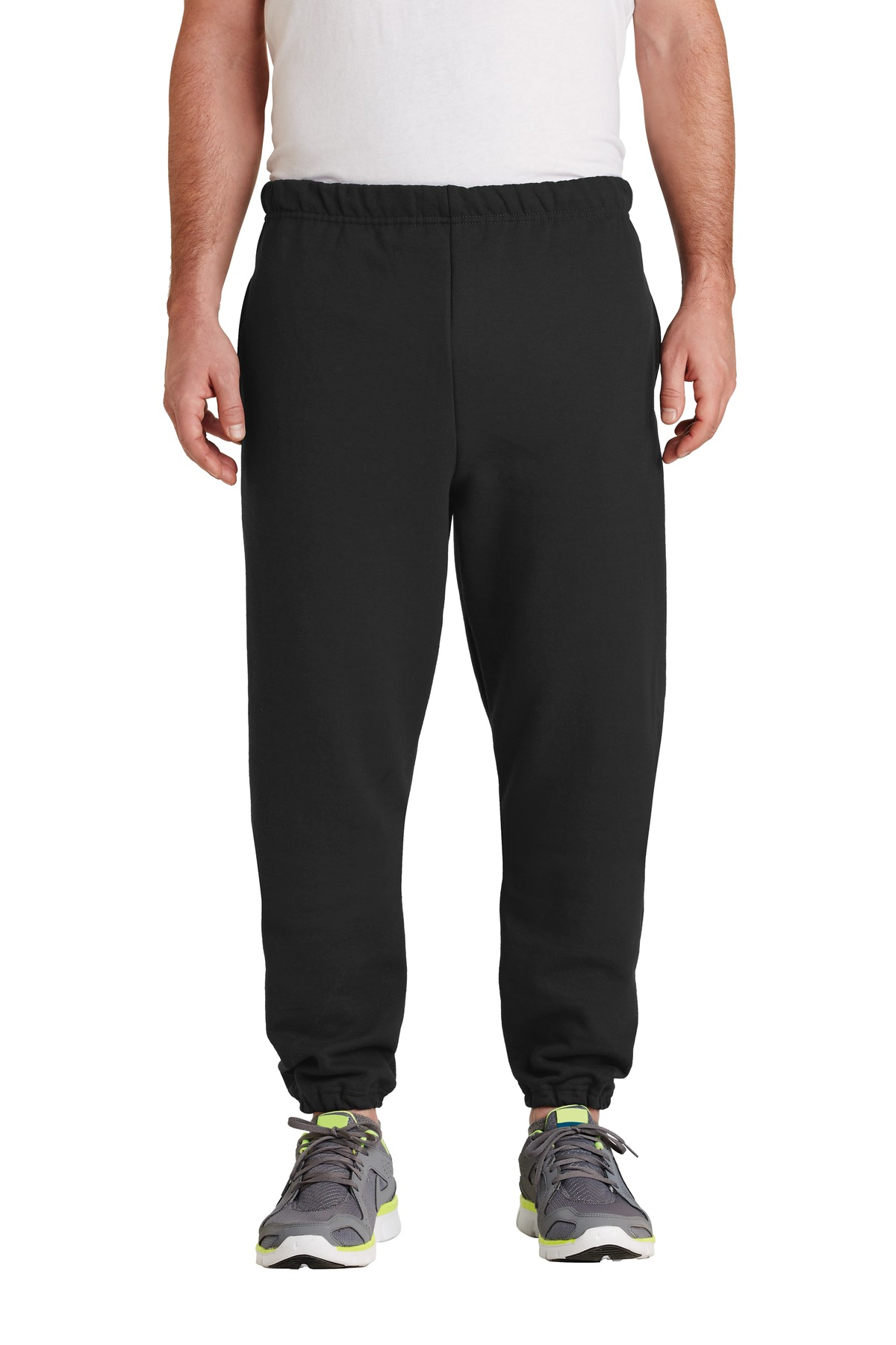 JERZEES ®  SUPER SWEATS ®  NuBlend ®  - Sweatpant with Pockets.  4850MP - Black