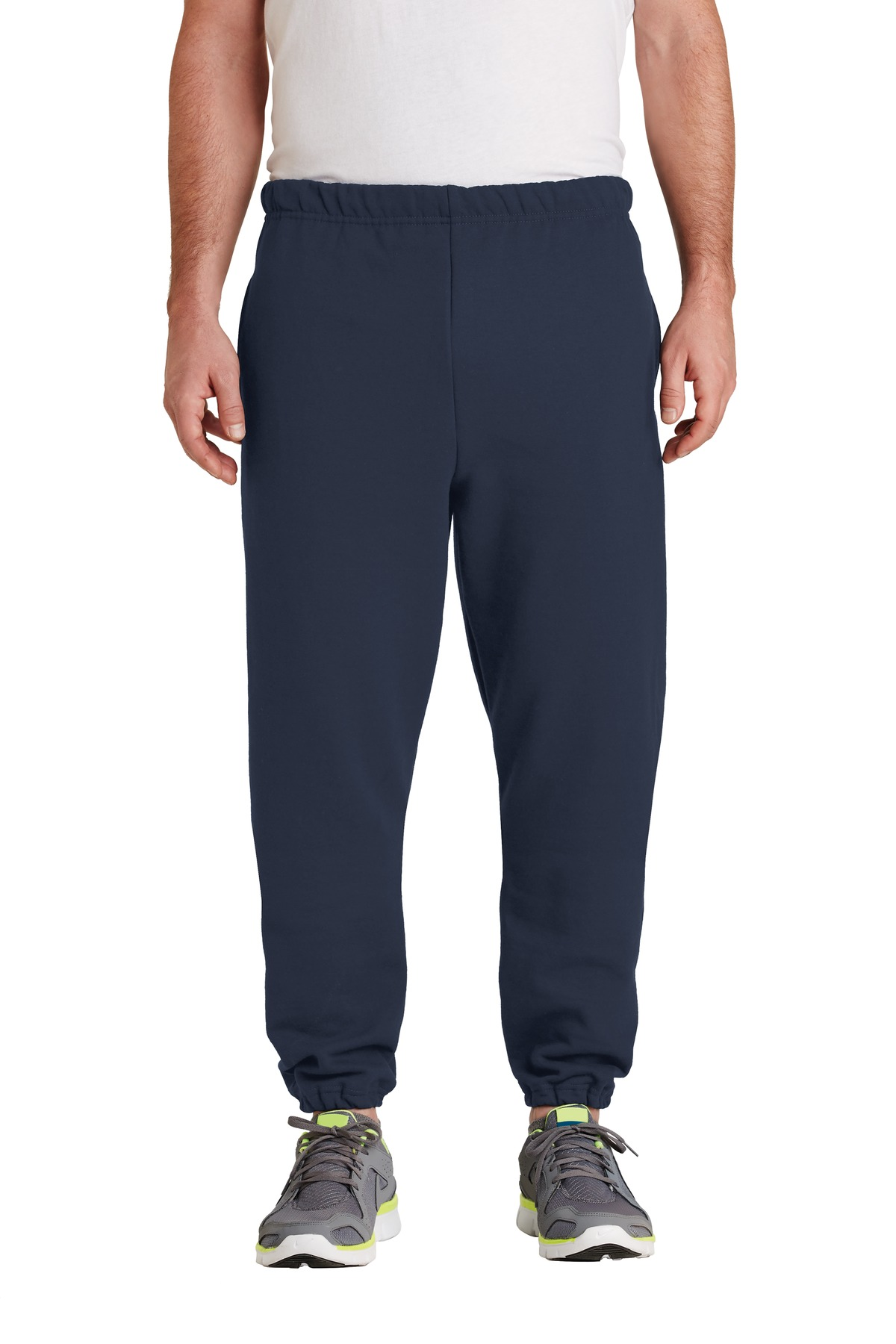 JERZEES ®  SUPER SWEATS ®  NuBlend ®  - Sweatpant with Pockets.  4850MP - Navy