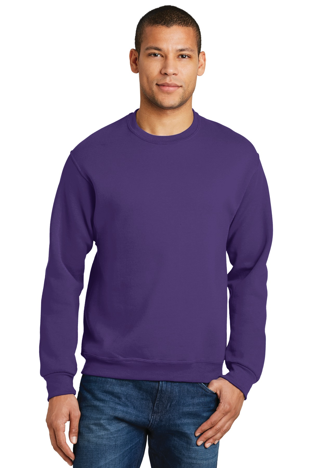 JERZEES ®  - NuBlend ®  Crewneck Sweatshirt.  562M - Deep Purple