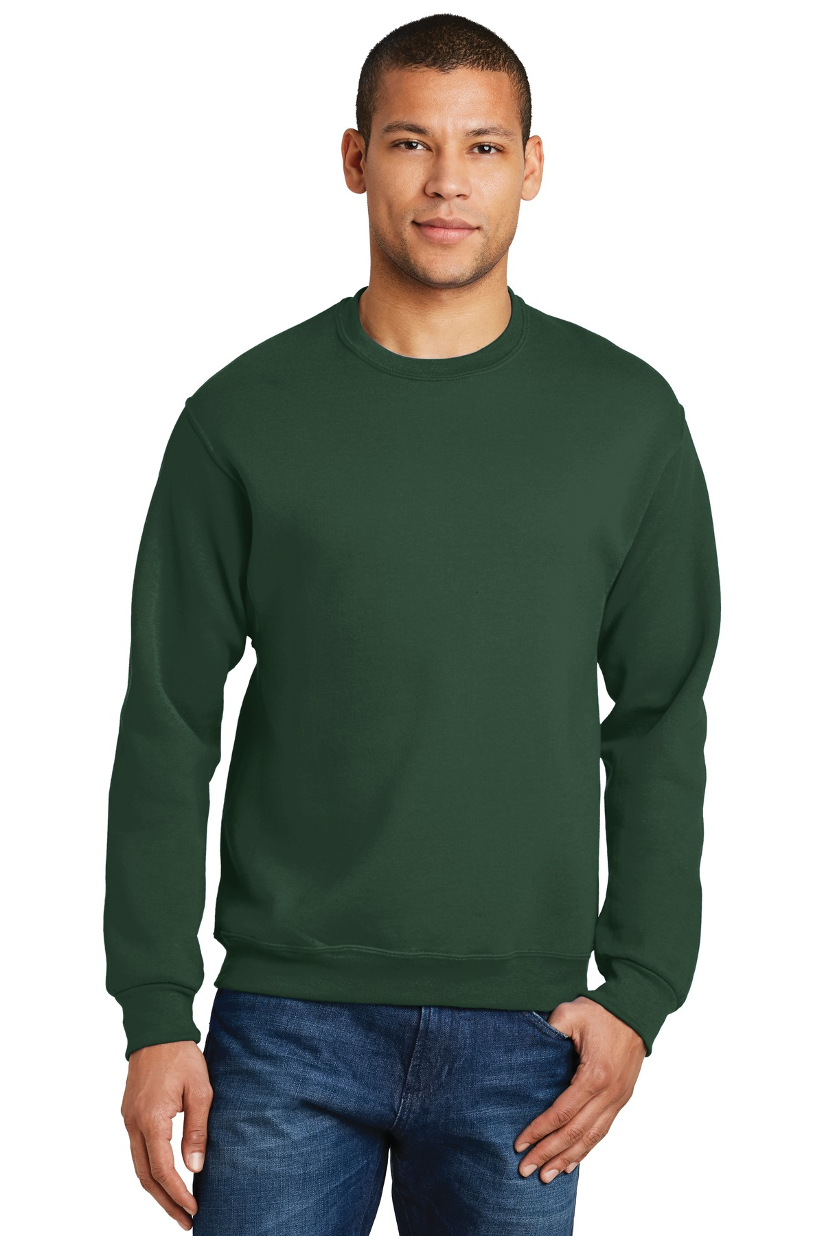 JERZEES ®  - NuBlend ®  Crewneck Sweatshirt.  562M - Forest Green