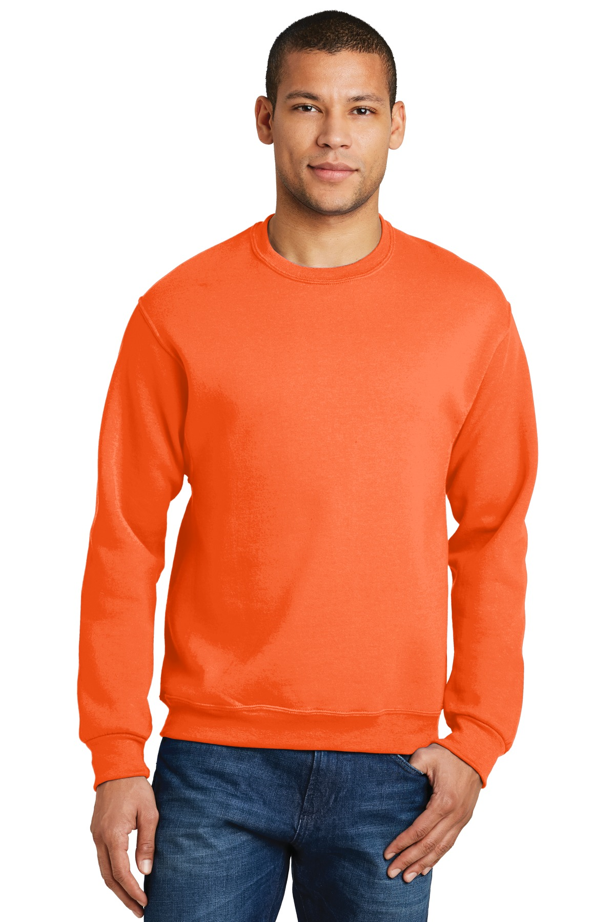 JERZEES ®  - NuBlend ®  Crewneck Sweatshirt.  562M - Safety Orange