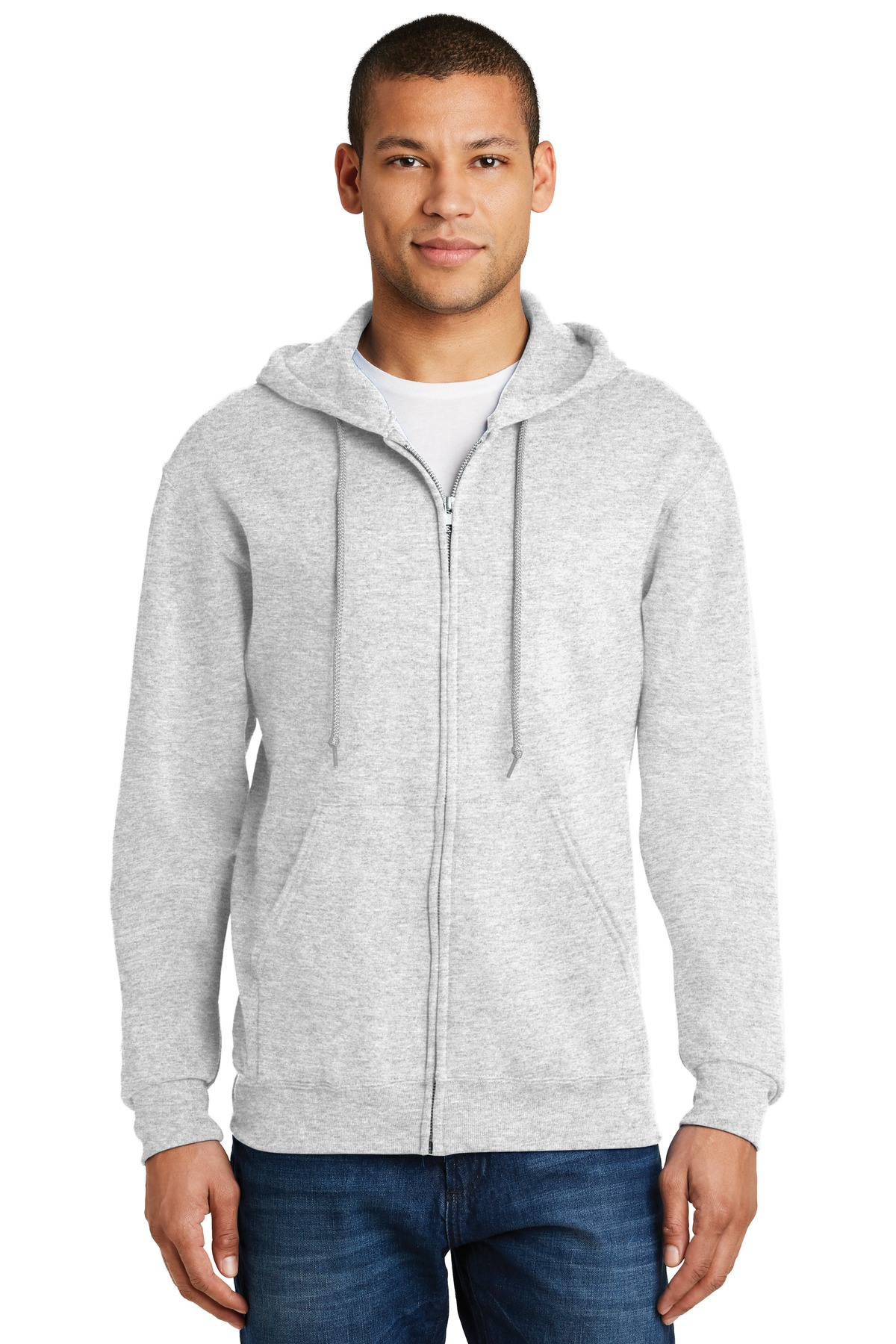 JERZEES ®  - NuBlend ®  Full-Zip Hooded Sweatshirt.  993M - Ash
