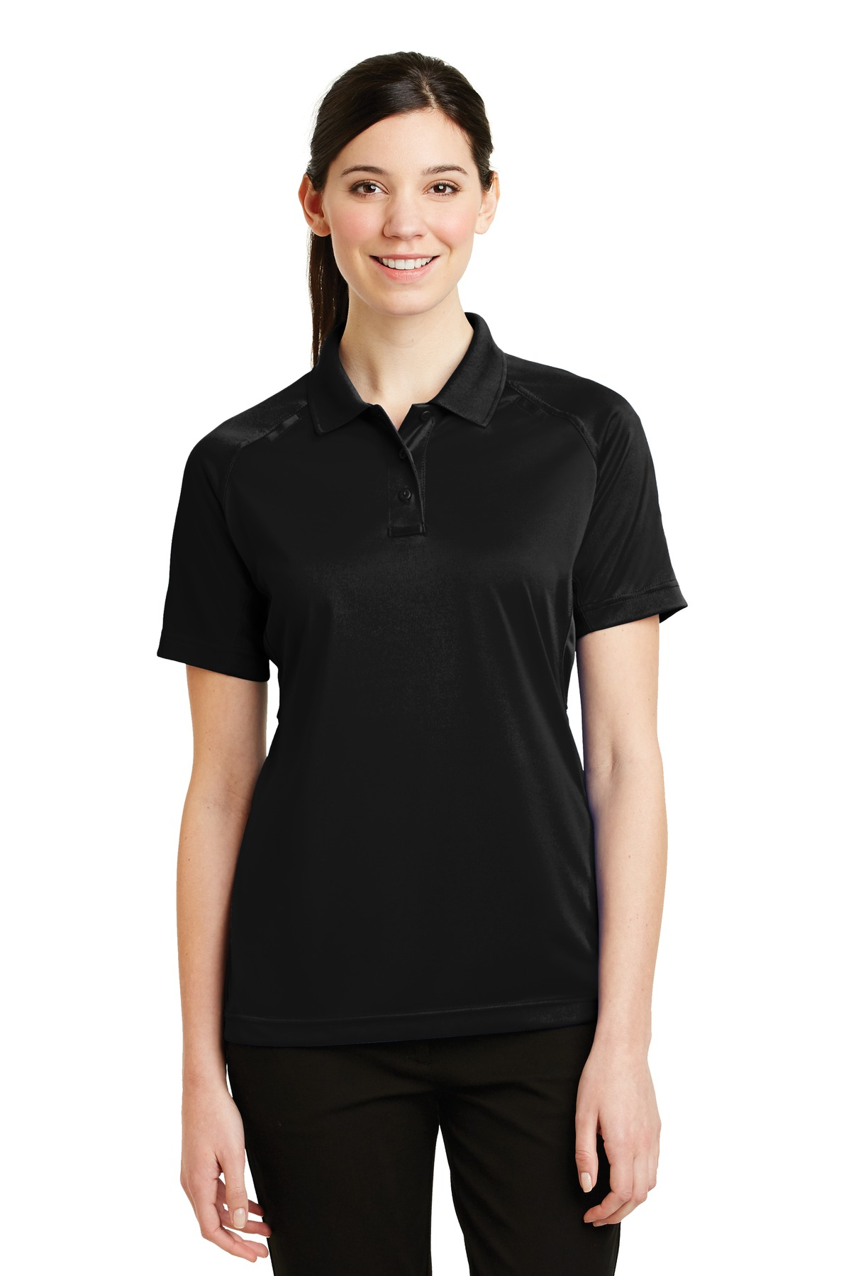 CornerStone ®  - Ladies Select Snag-Proof Tactical Polo. CS411 - Black