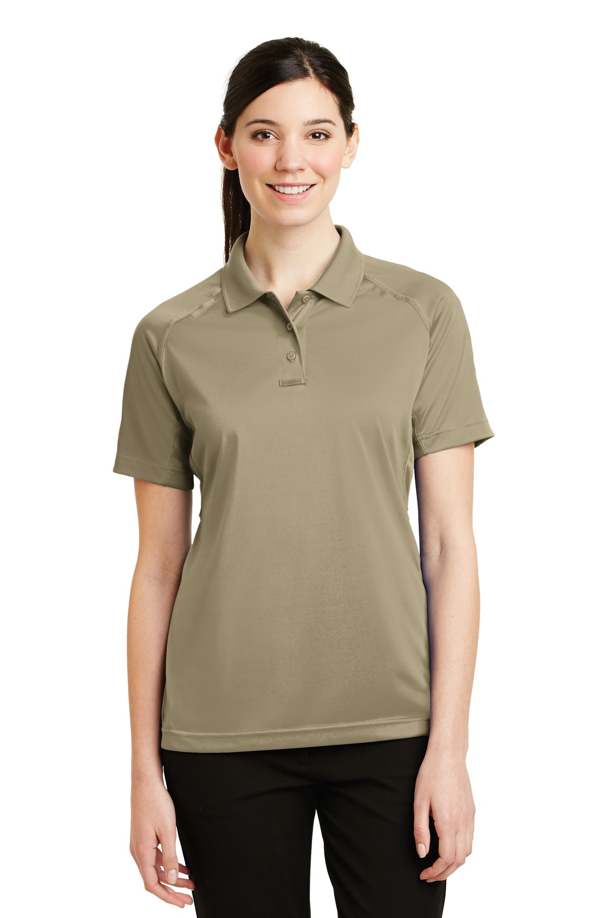 CornerStone ®  - Ladies Select Snag-Proof Tactical Polo. CS411 - Tan
