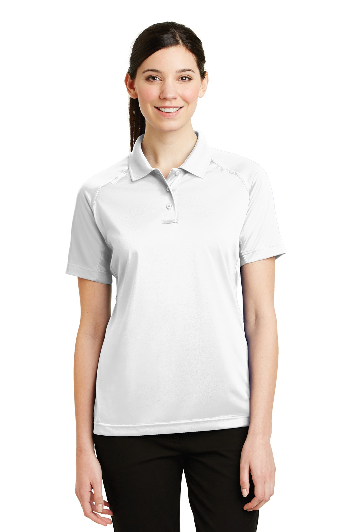 CornerStone ®  - Ladies Select Snag-Proof Tactical Polo. CS411 - White