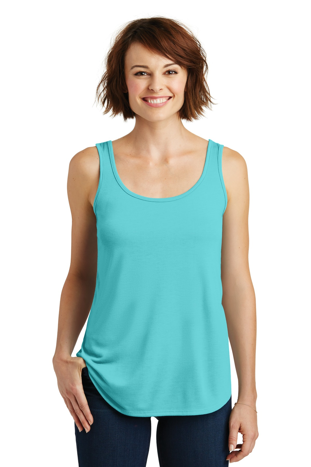 District Women''s Drapey Tank. DM414