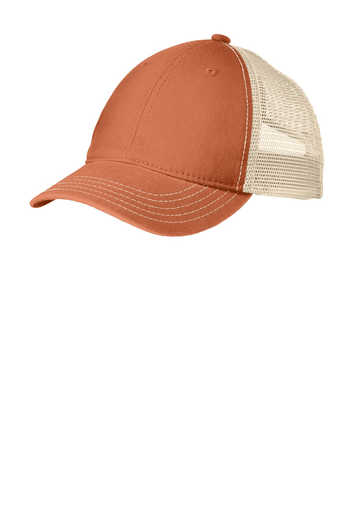 District ®  Super Soft Mesh Back Cap. DT630 - Burnt Orange/ Stone