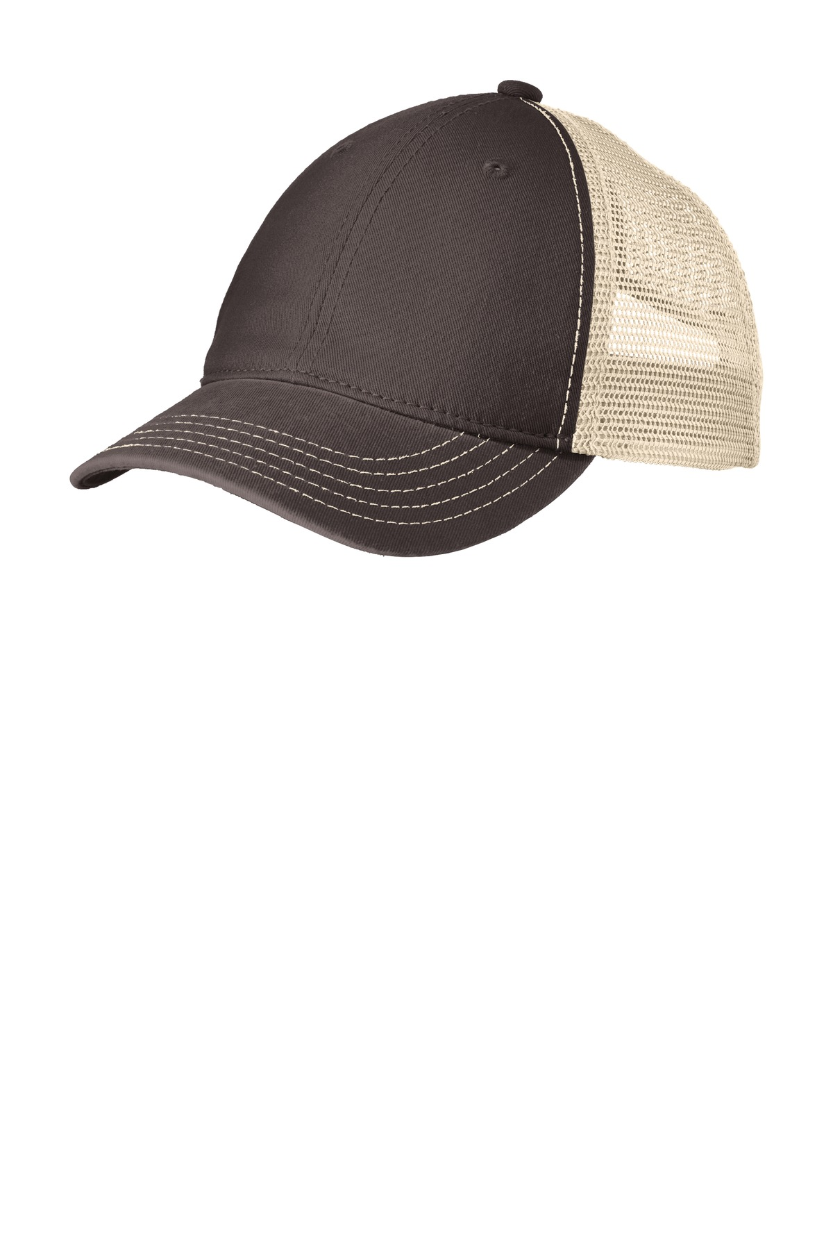 District ®  Super Soft Mesh Back Cap. DT630 - Chocolate Brown/ Stone