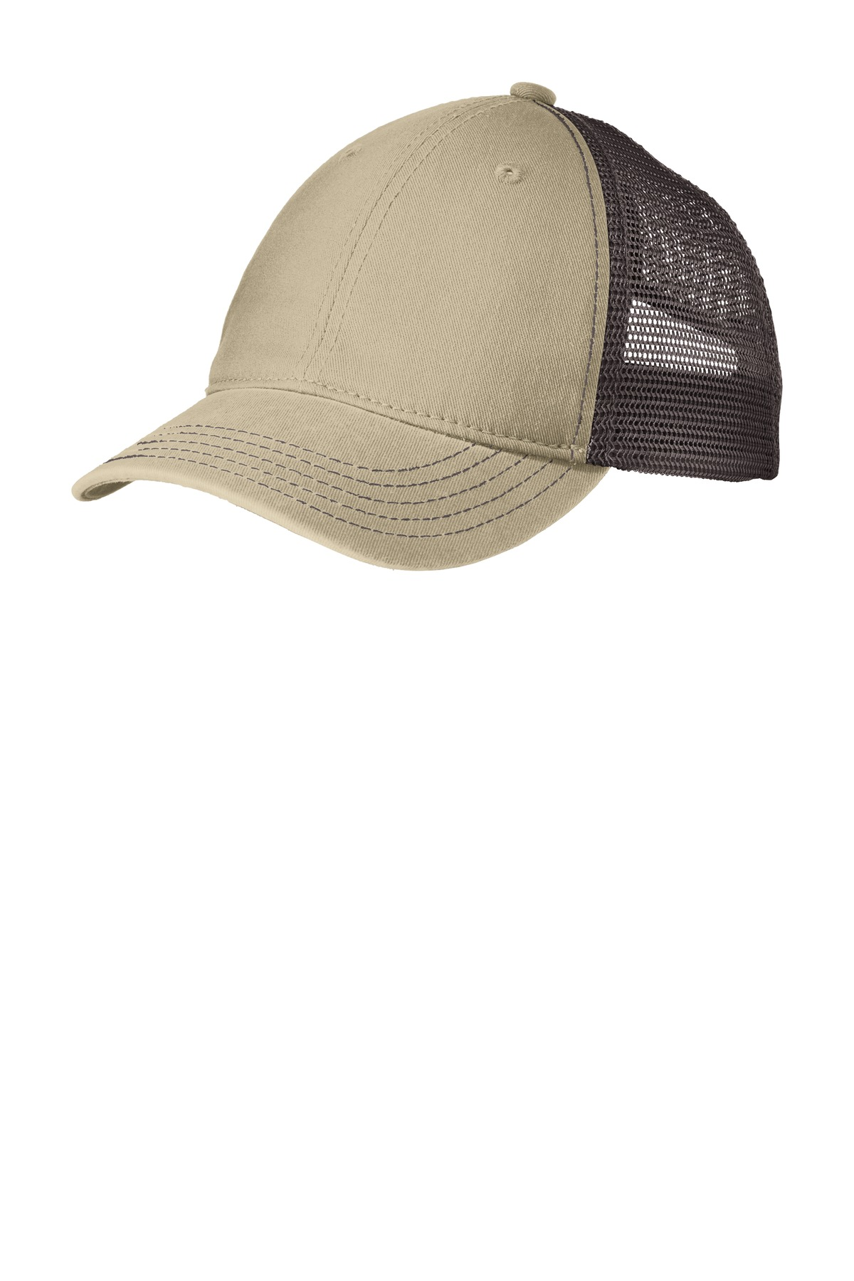 District ®  Super Soft Mesh Back Cap. DT630 - Khaki/ Chocolate Brown