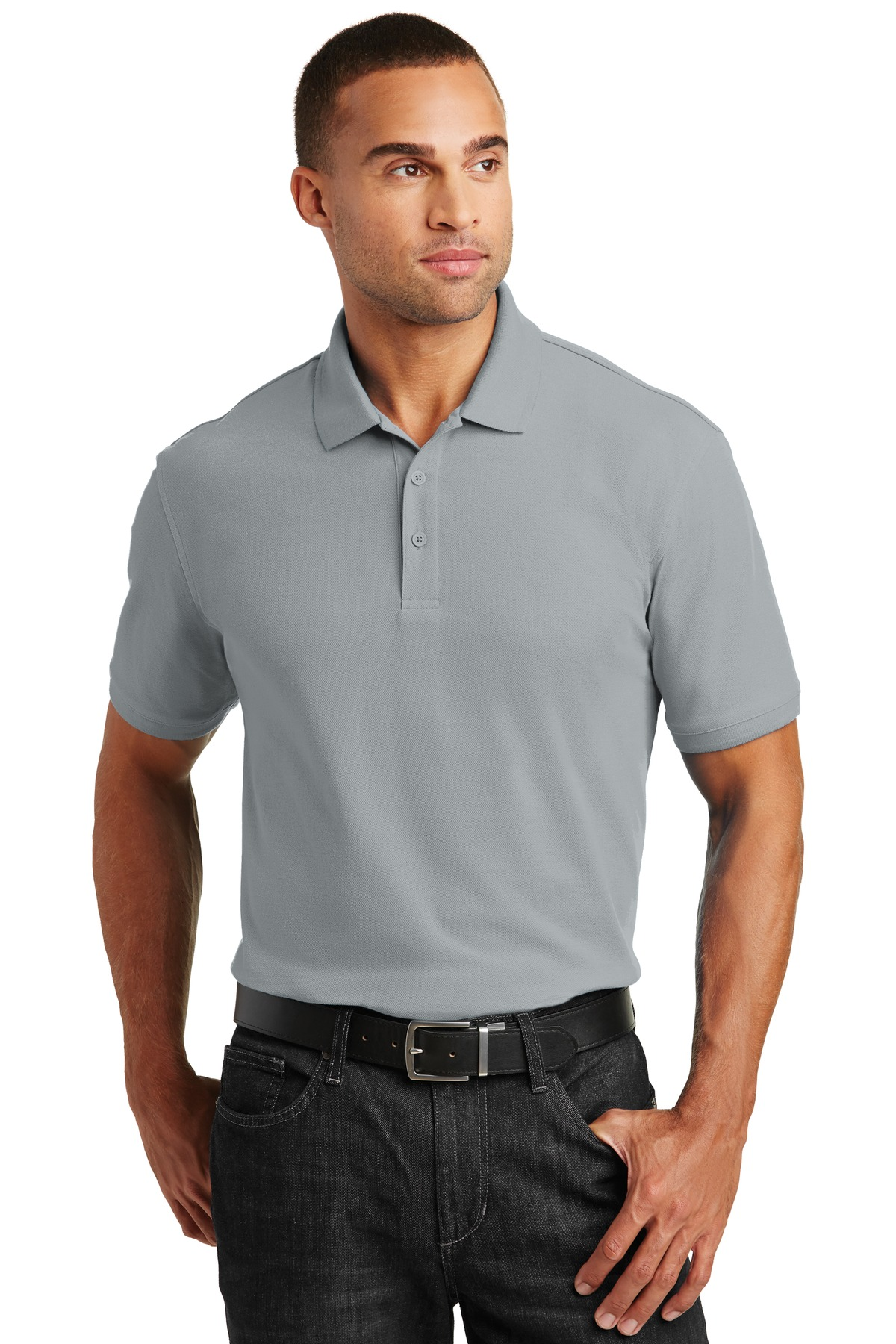Port Authority ®  Core Classic Pique Polo. K100 - Gusty Grey