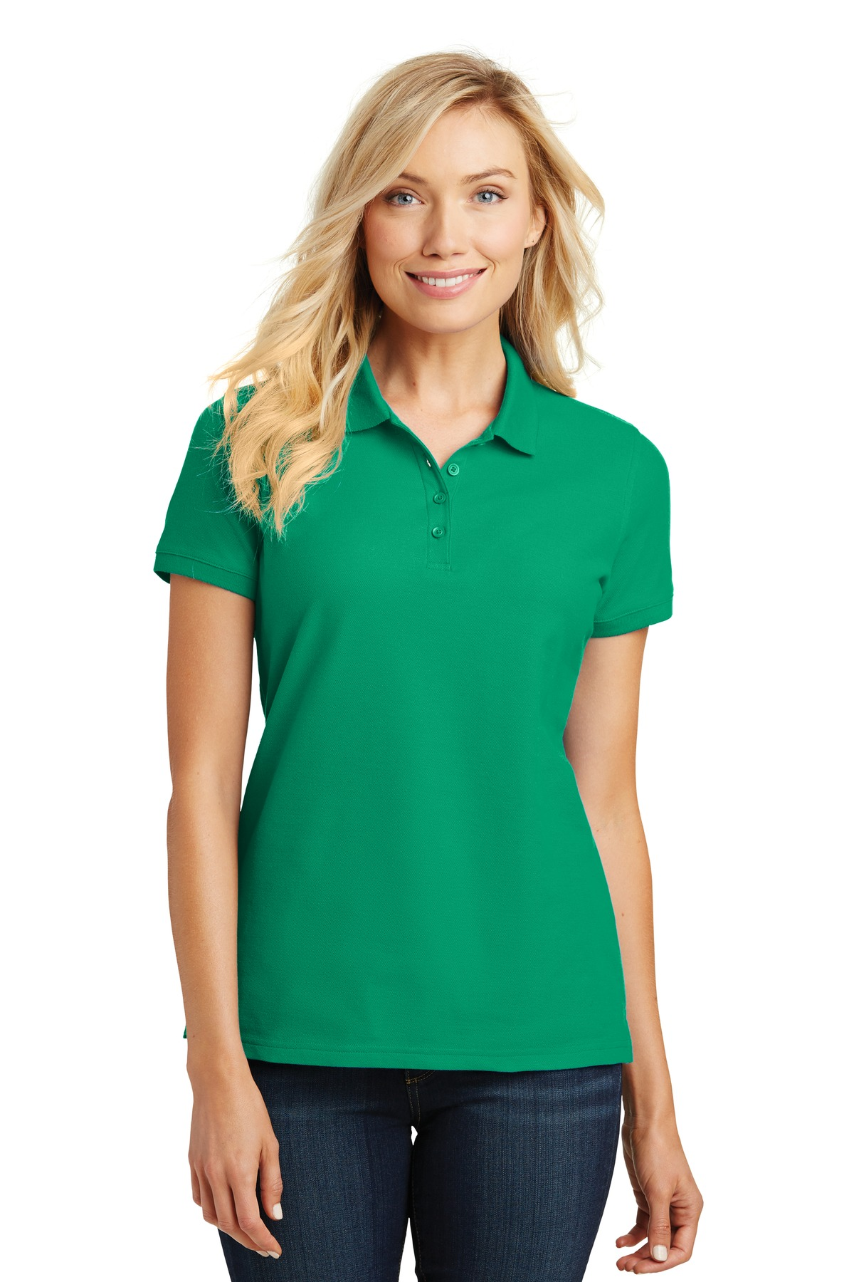 Port Authority ®  Ladies Core Classic Pique Polo. L100 - Bright Kelly Green