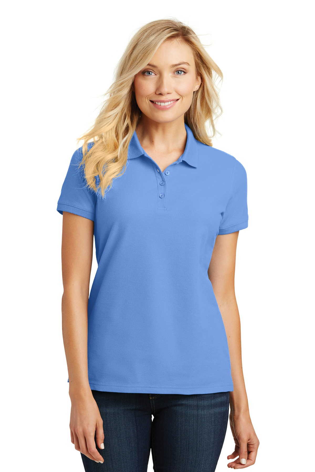 Port Authority ®  Ladies Core Classic Pique Polo. L100 - Carolina Blue