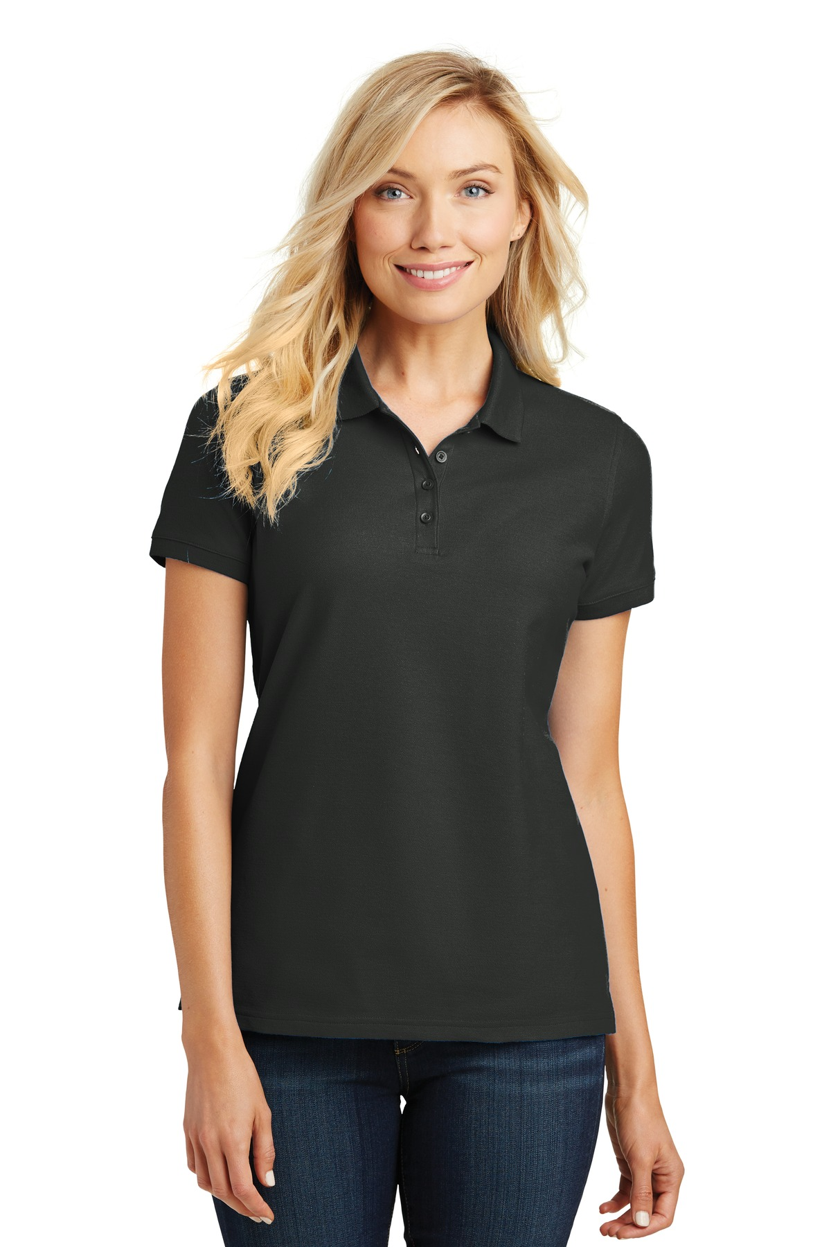 Port Authority ®  Ladies Core Classic Pique Polo. L100 - Deep Black