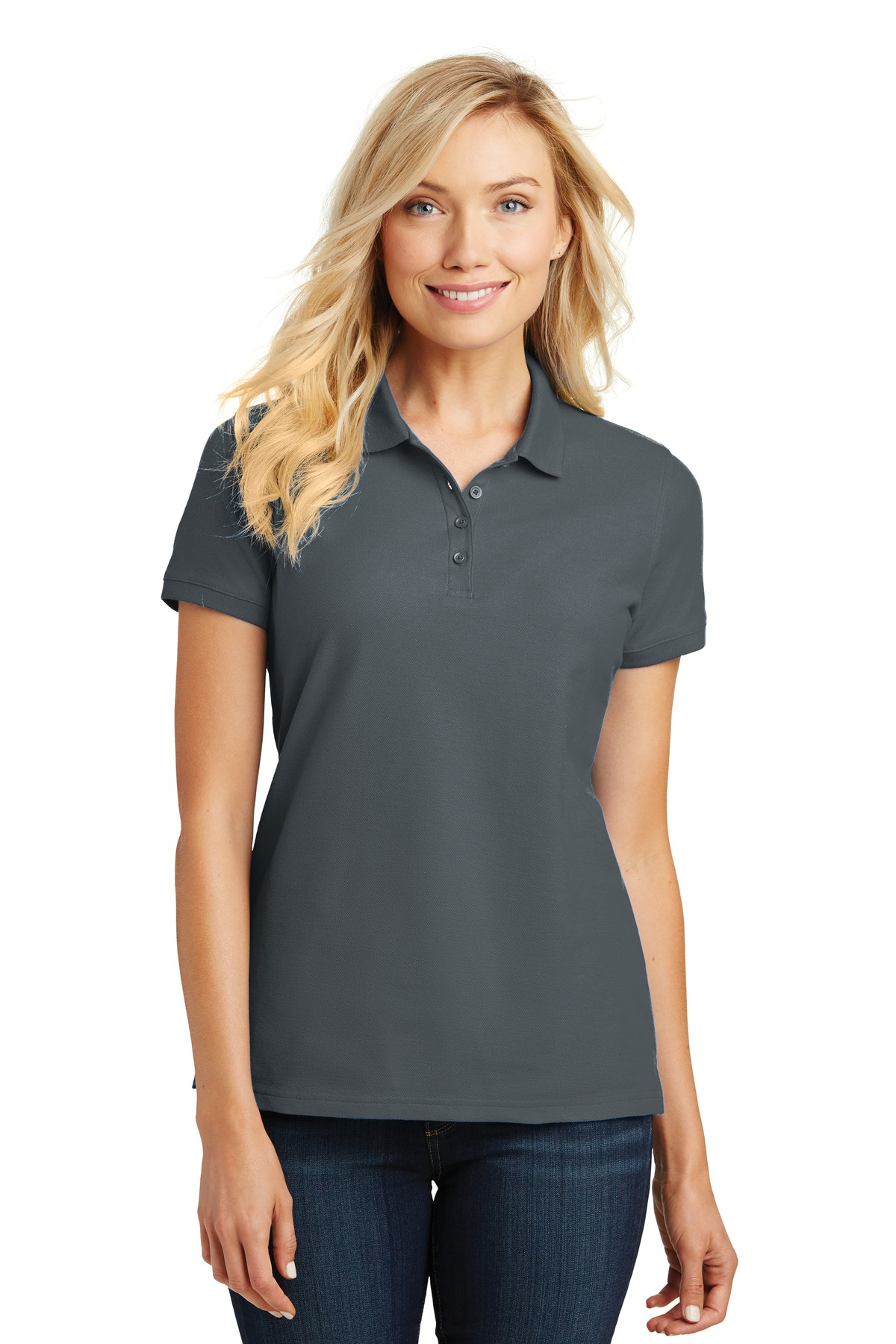 Port Authority ®  Ladies Core Classic Pique Polo. L100 - Graphite