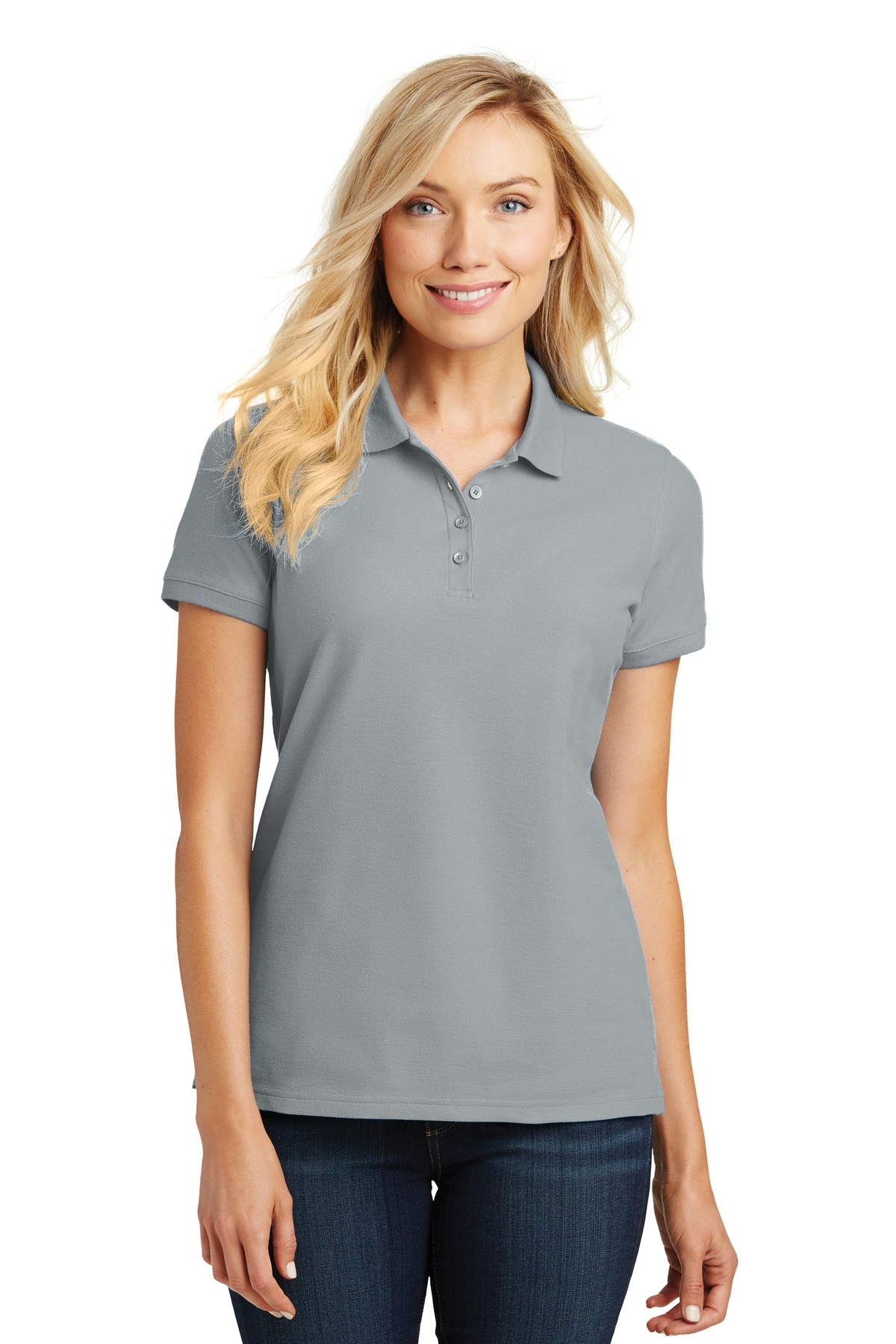 Port Authority ®  Ladies Core Classic Pique Polo. L100 - Gusty Grey