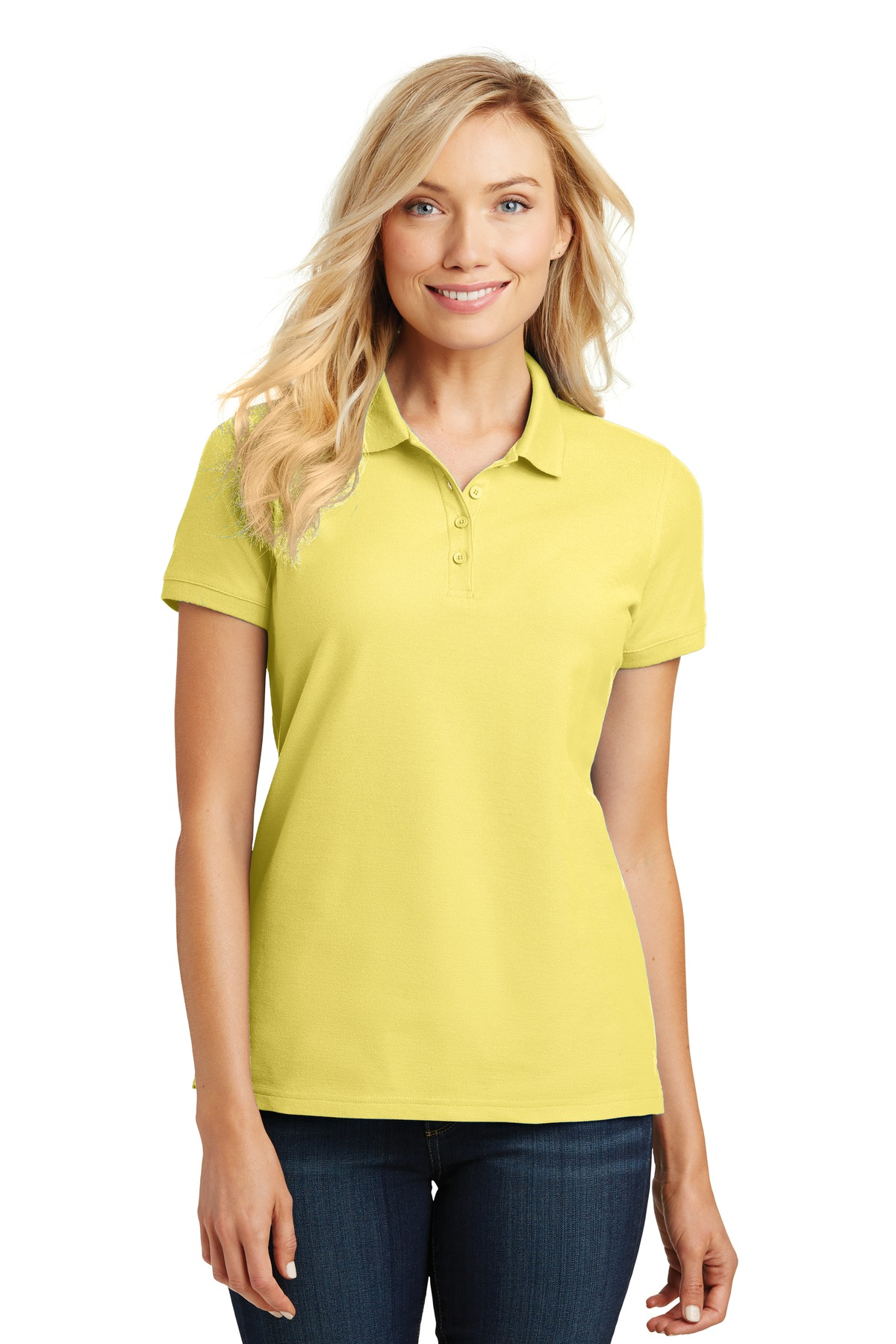 Port Authority ®  Ladies Core Classic Pique Polo. L100 - Lemon Drop Yellow