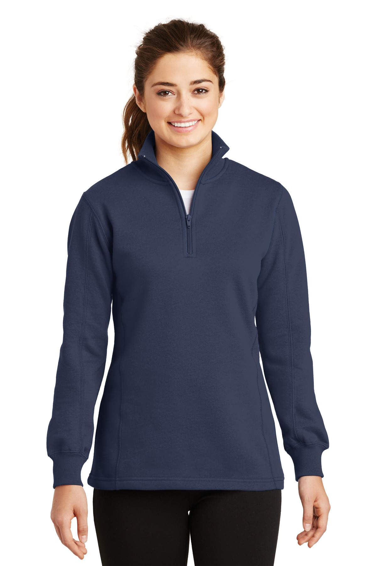 Sport-Tek ®  Ladies 1/4-Zip Sweatshirt. LST253 - True Navy