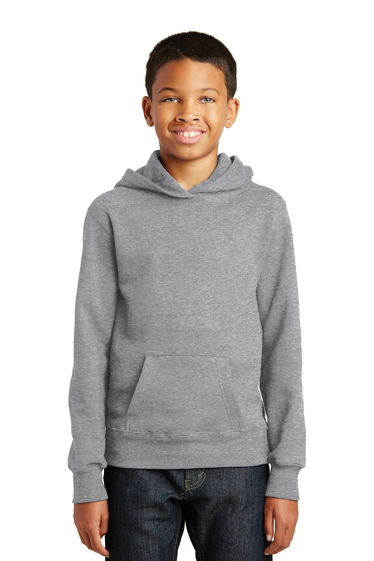 Port & Company ®  Youth Fan Favorite Fleece Pullover Hooded Sweatshirt. PC850YH - Athletic Heather