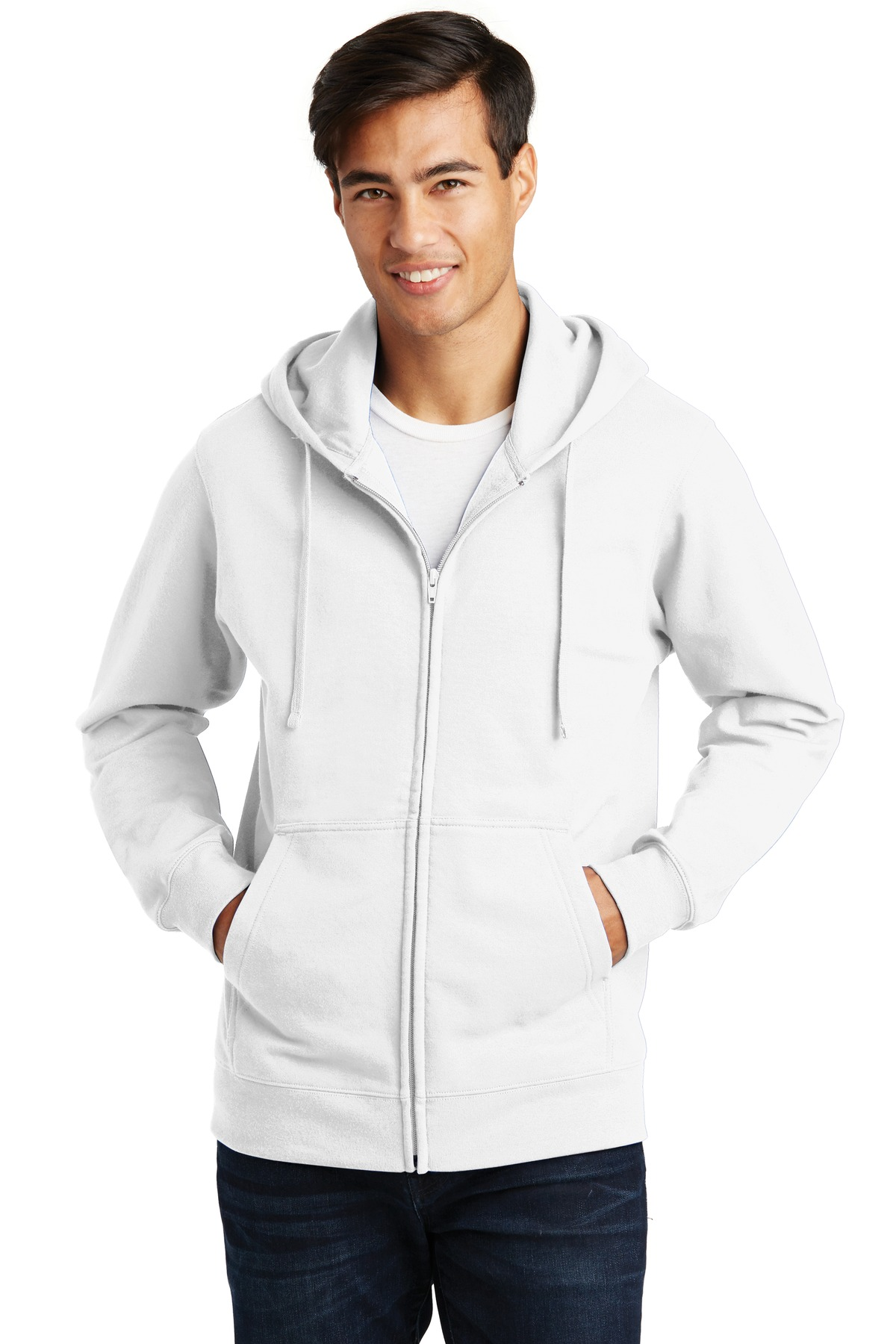 Port & Company Fan Favorite Fleece Full-Zip Hooded Sweatshirt. PC850ZH