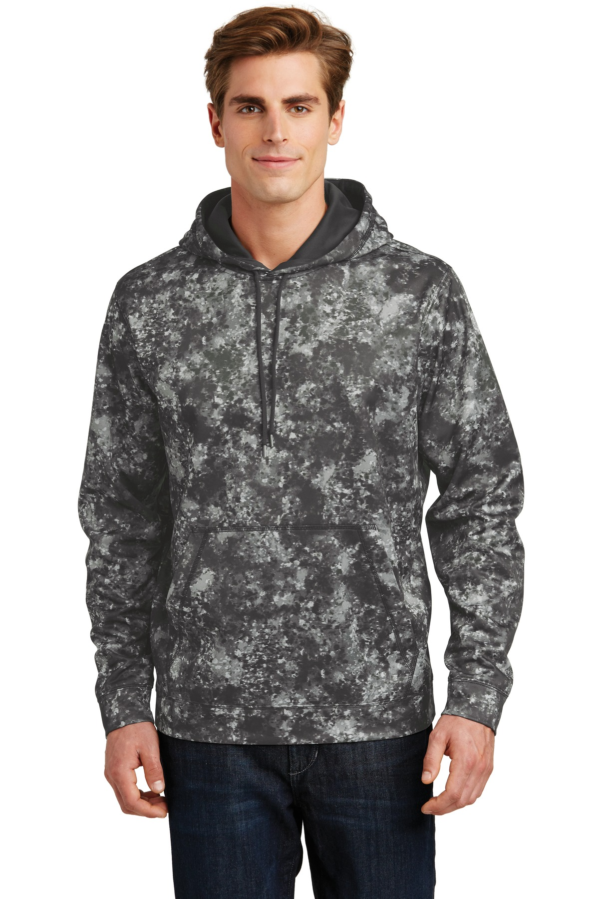 Sport-Tek ®  Sport-Wick ®  Mineral Freeze Fleece Hooded Pullover. ST230 - Black
