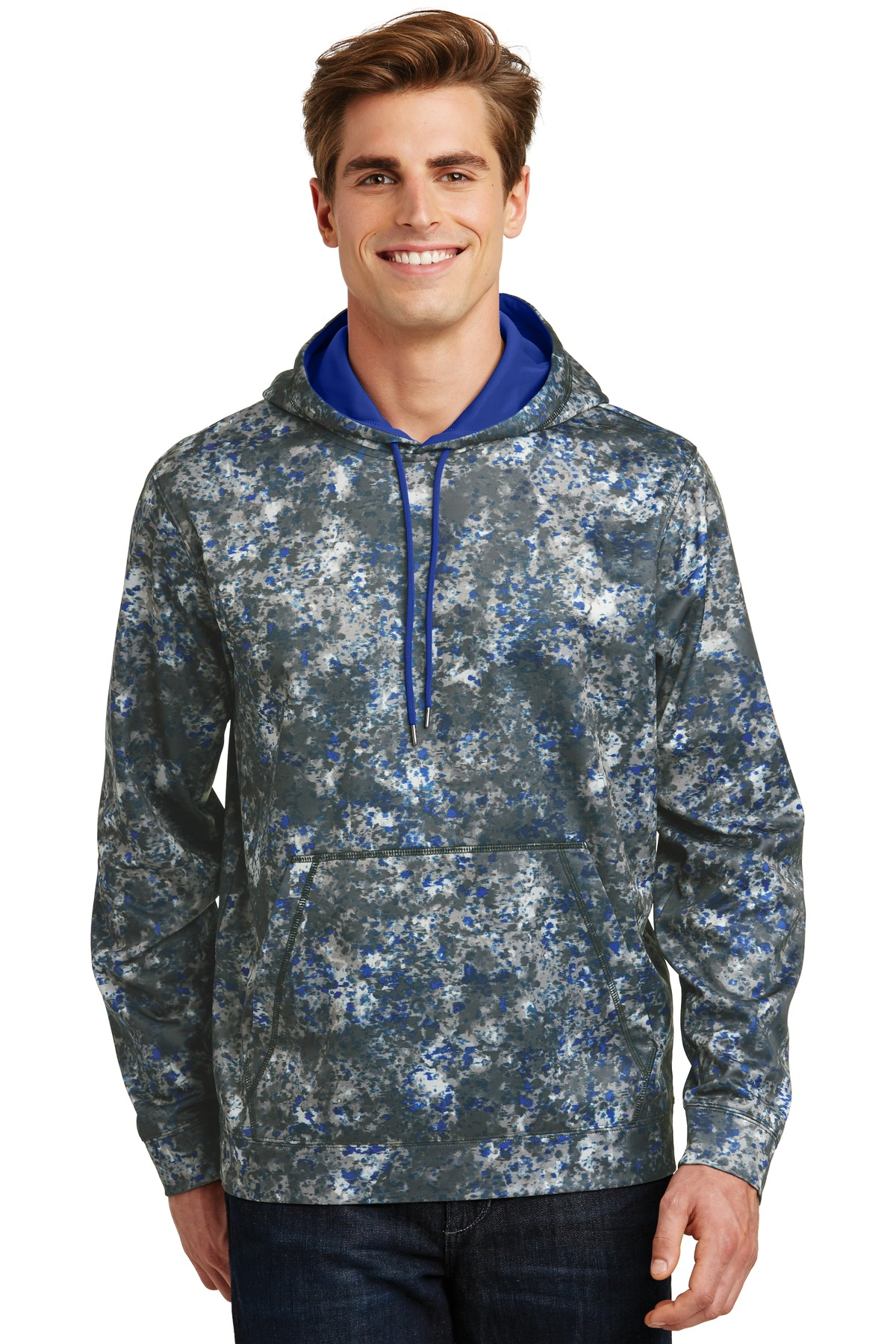 Sport-Tek Sport-Wick Mineral Freeze Fleece Hooded Pullover. ST230
