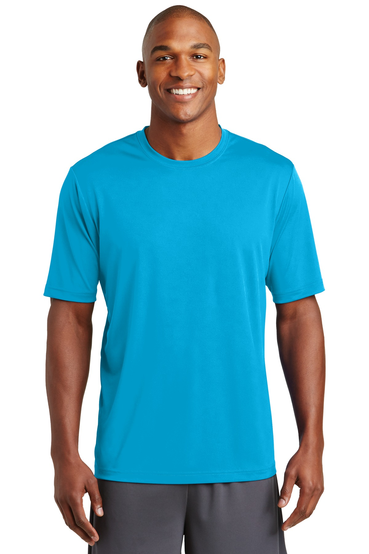 Sport tek posicharge tough tee st320 phelps for The queensboro shirt company