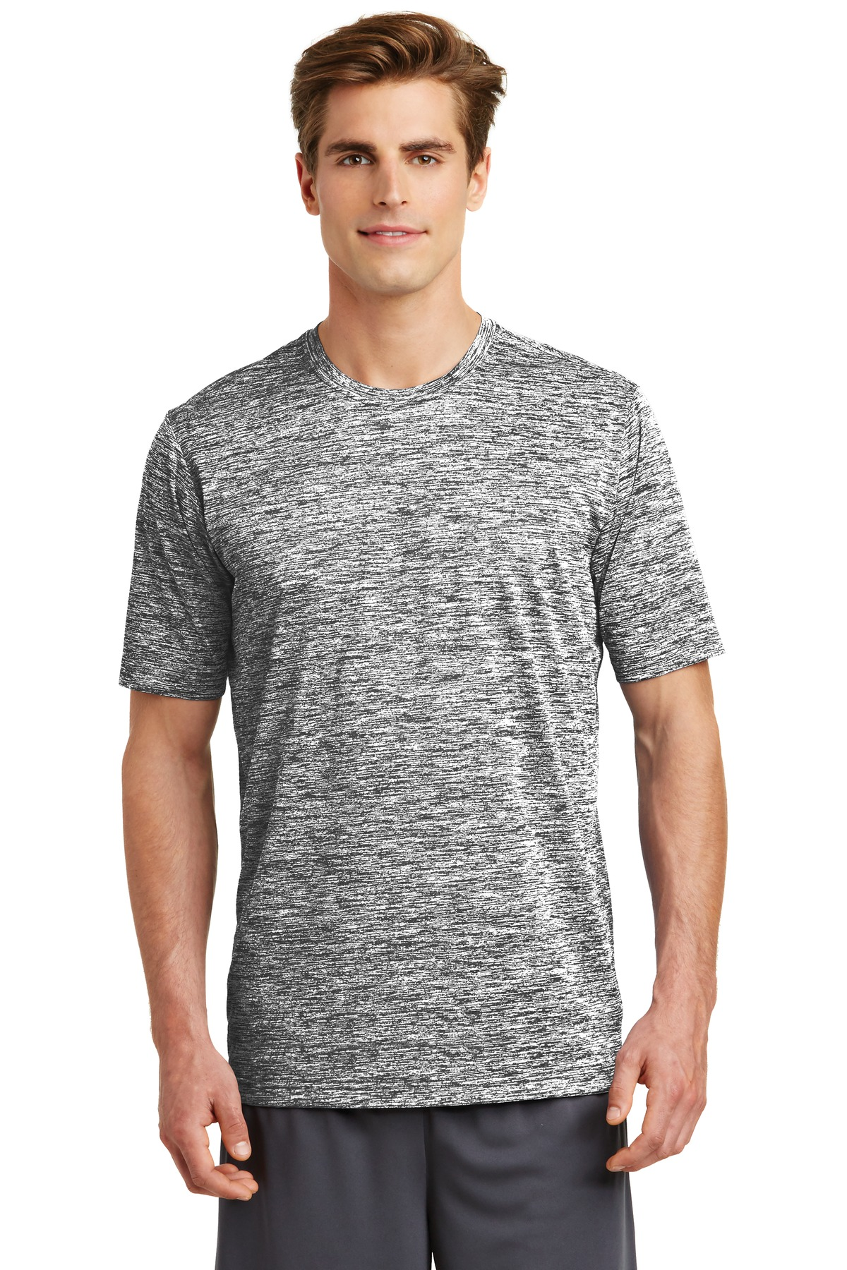 Sport-Tek ®  PosiCharge ®  Electric Heather Tee. ST390 - Black Electric