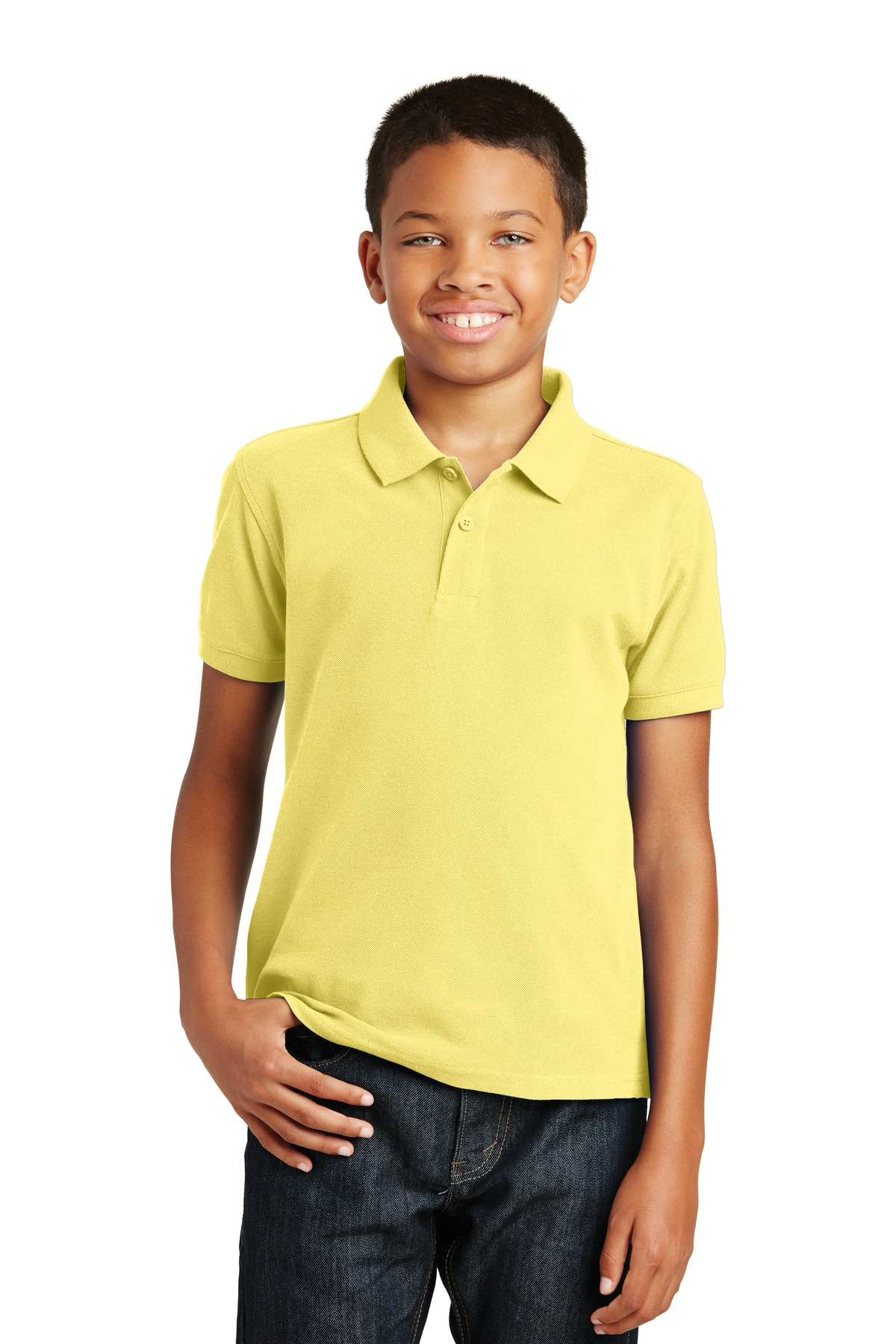 Port Authority ®  Youth Core Classic Pique Polo. Y100 - Lemon Drop Yellow