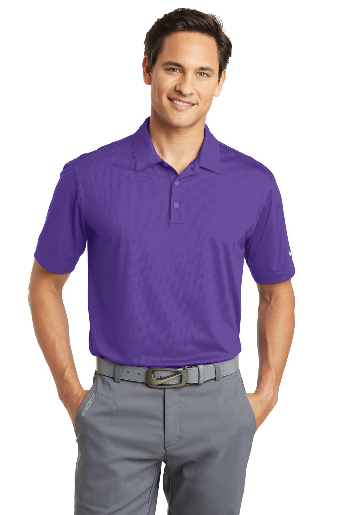 Nike Dri-FIT Vertical Mesh Polo. 637167 - Court Purple
