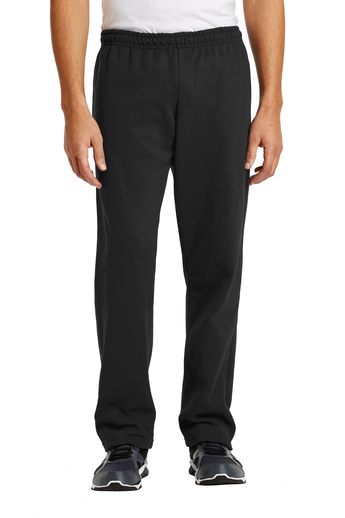 Gildan ®  Heavy Blend ™  Open Bottom Sweatpant. 18400 - Black