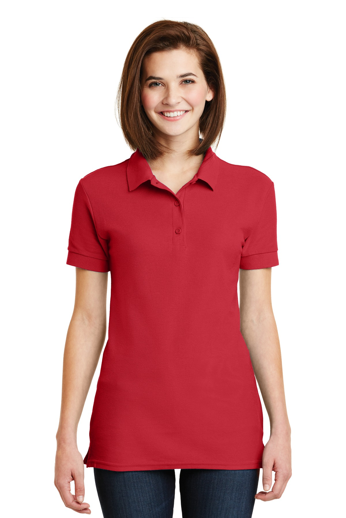 Gildan Ladies 6.6-Ounce 100% Double Pique Cotton Sport Shirt. 82800L