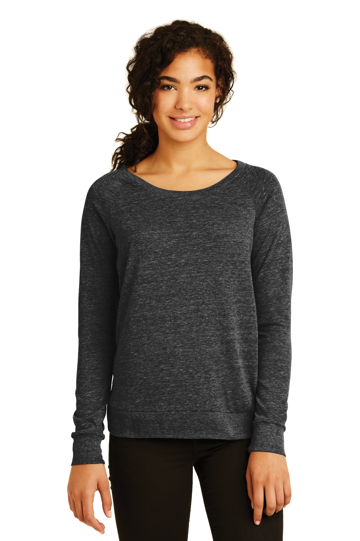 Alternative Women's Eco-Jersey ™  Slouchy Pullover. AA1990 - Eco Black