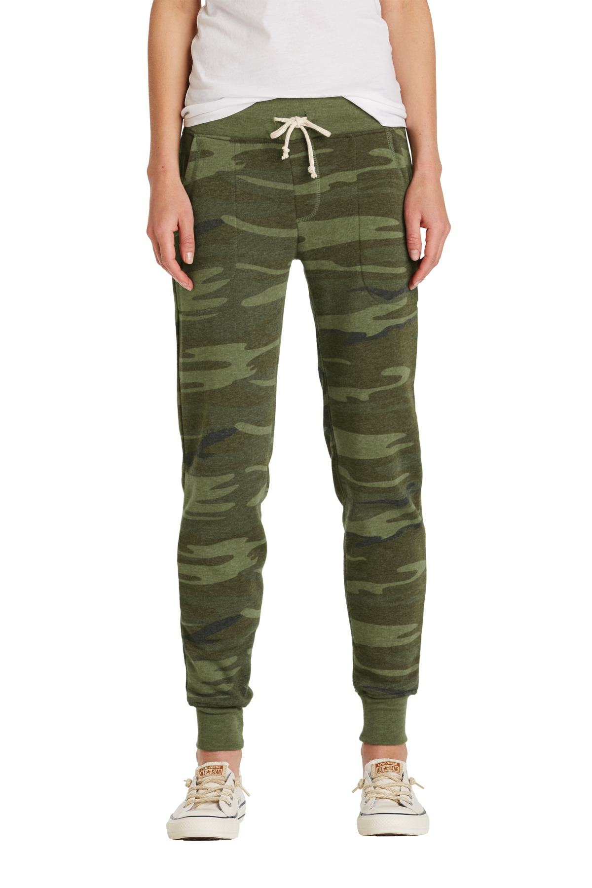 Alternative Women's Jogger Eco ™ -Fleece Pant. AA31082 - Camo