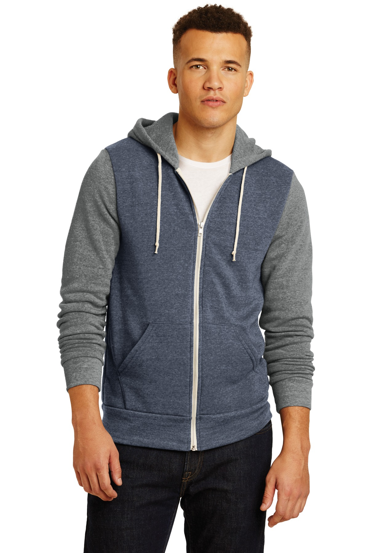 Alternative Colorblock Rocky Eco-Fleece Zip Hoodie. AA32023