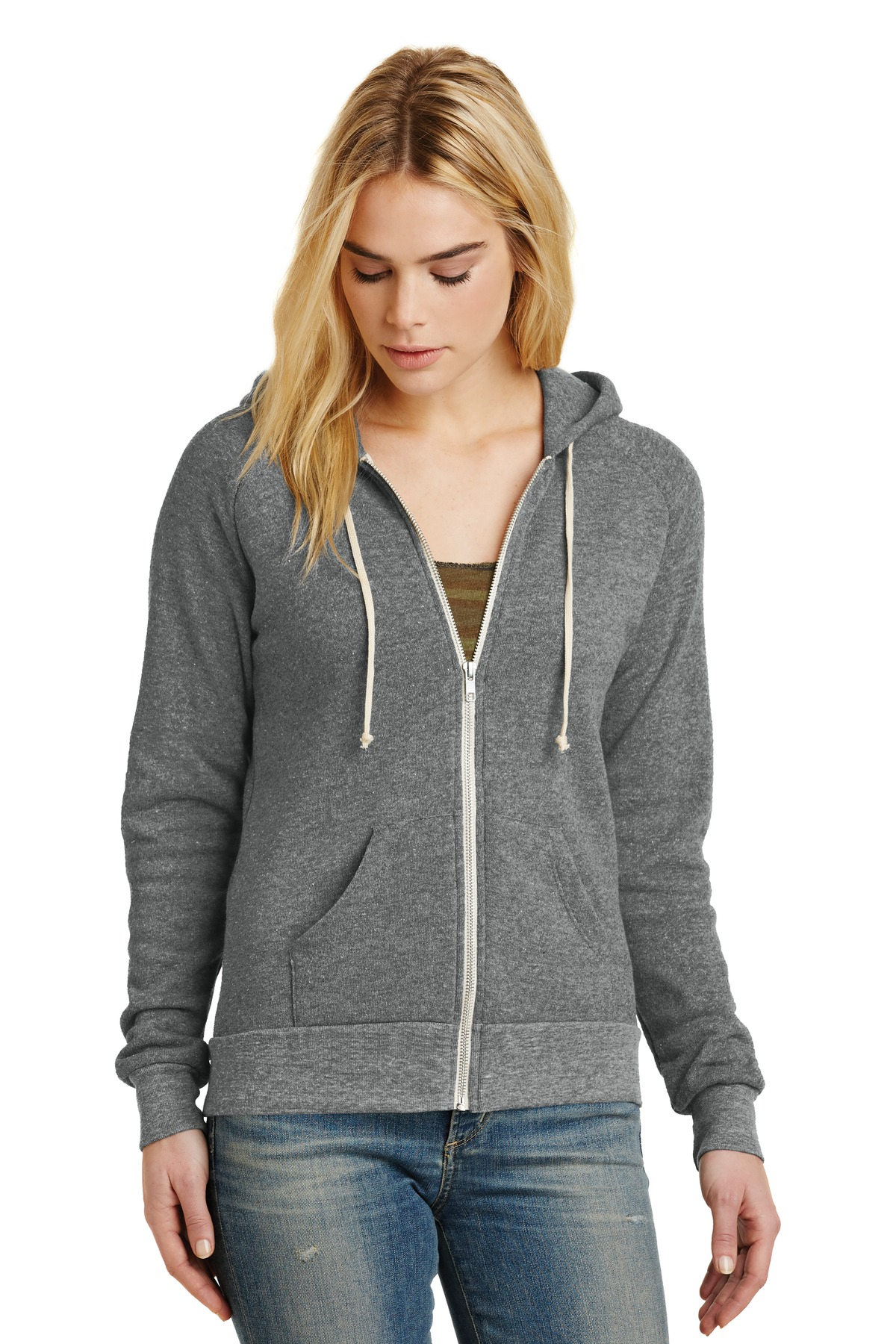 Alternative Women''s Adrian Eco -Fleece Zip Hoodie. AA9573