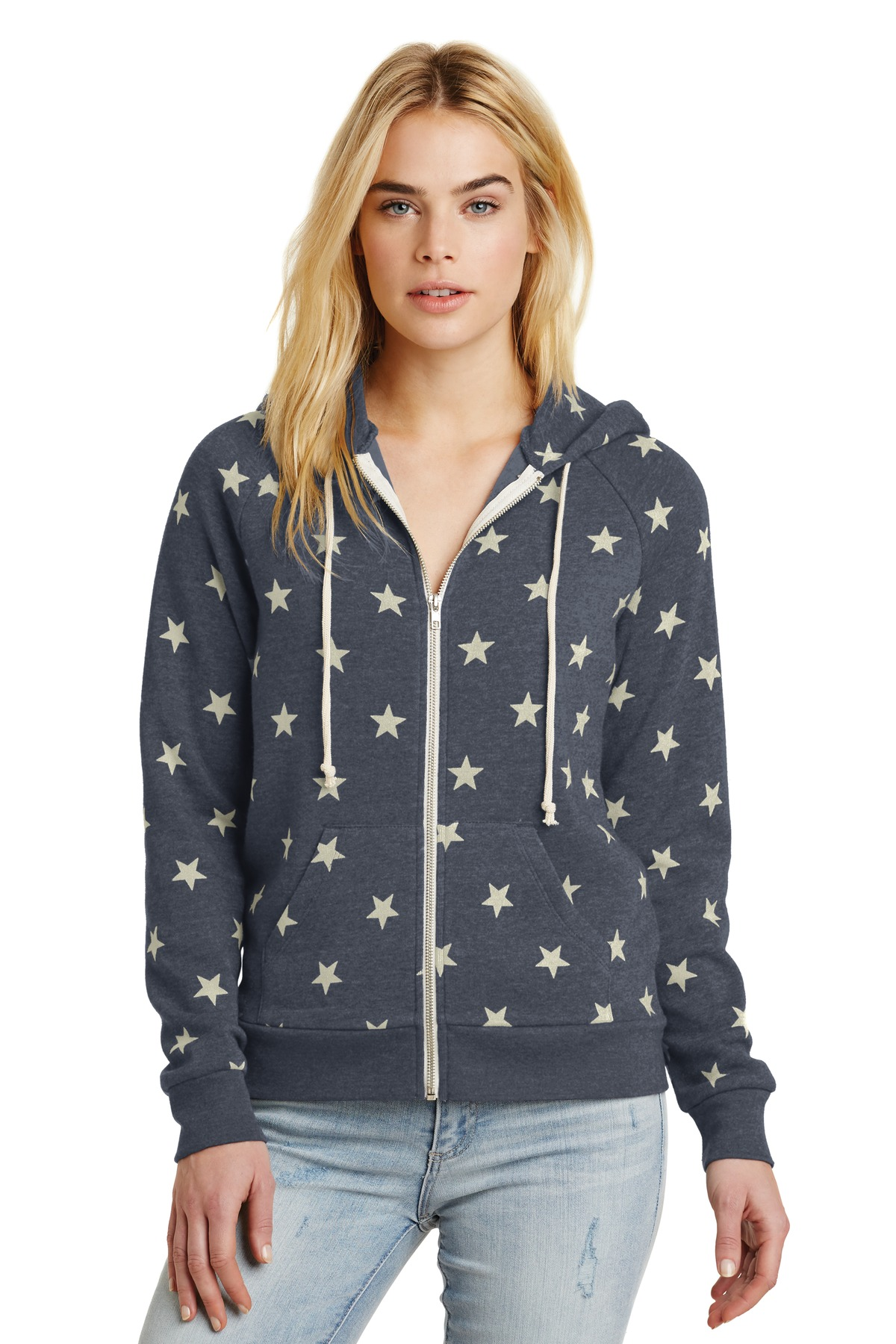 Alternative Women's Adrian Eco ™  -Fleece Zip Hoodie. AA9573 - Stars