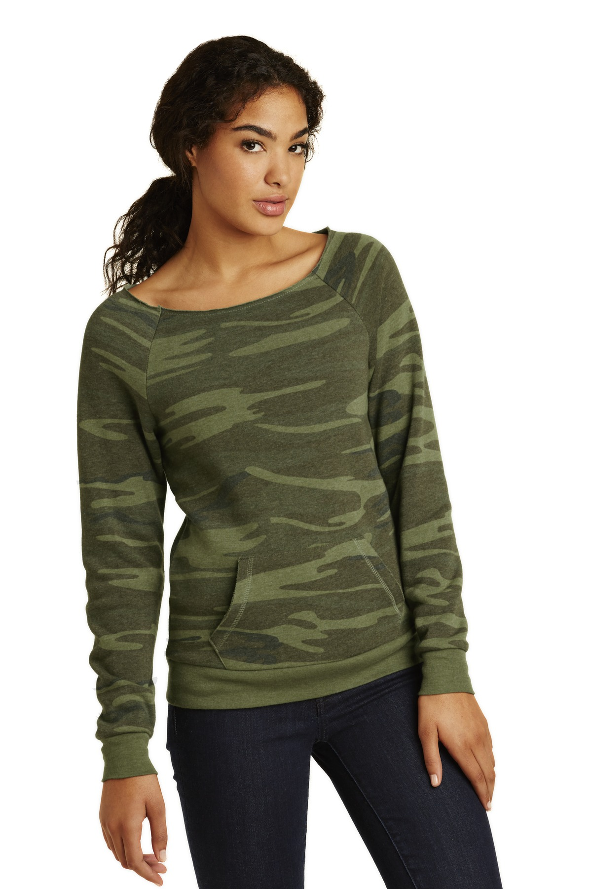 Alternative Women's Maniac Eco ™  -Fleece Sweatshirt. AA9582 - Camo