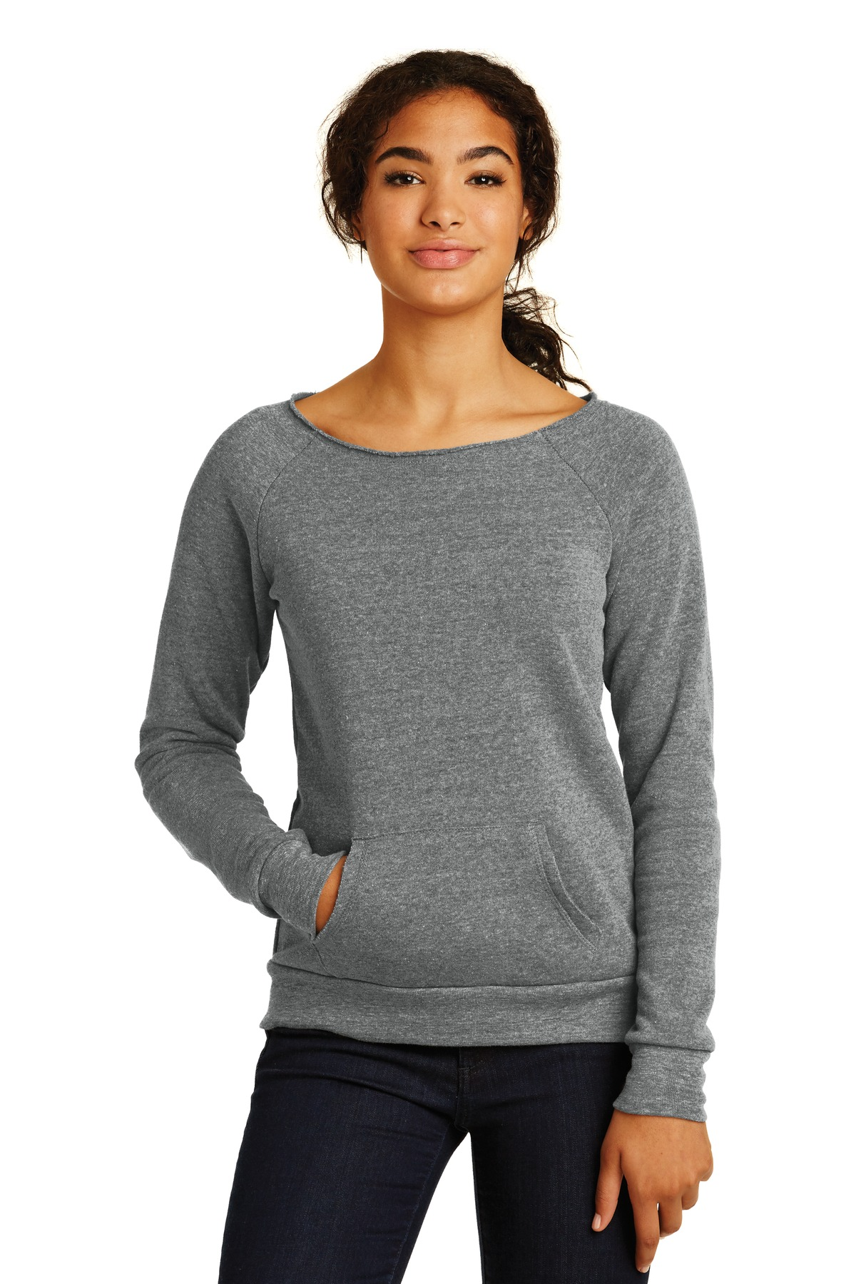 Alternative Women's Maniac Eco ™  -Fleece Sweatshirt. AA9582 - Eco Grey