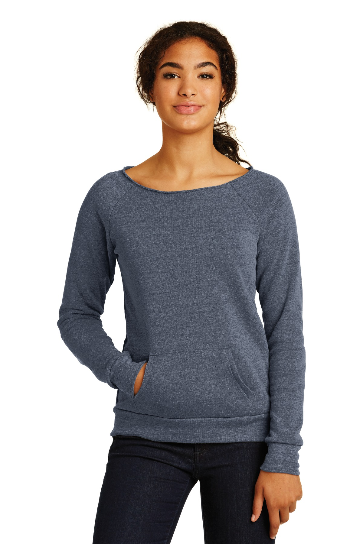 Alternative Women's Maniac Eco ™  -Fleece Sweatshirt. AA9582 - Eco True Navy