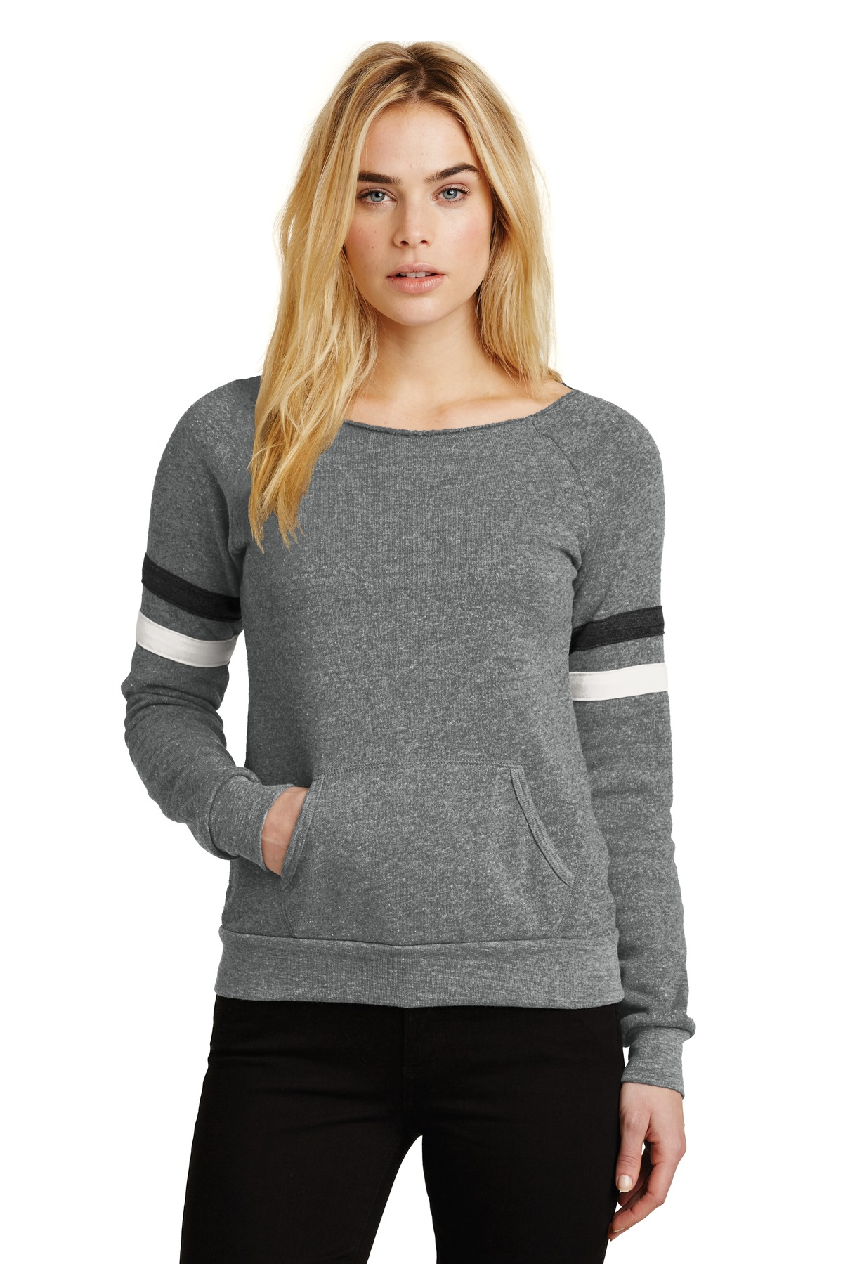 Alternative Women's Maniac Sport Eco ™ -Fleece Sweatshirt. AA9583 - Eco Grey/ Eco Black/ Eco Ivory