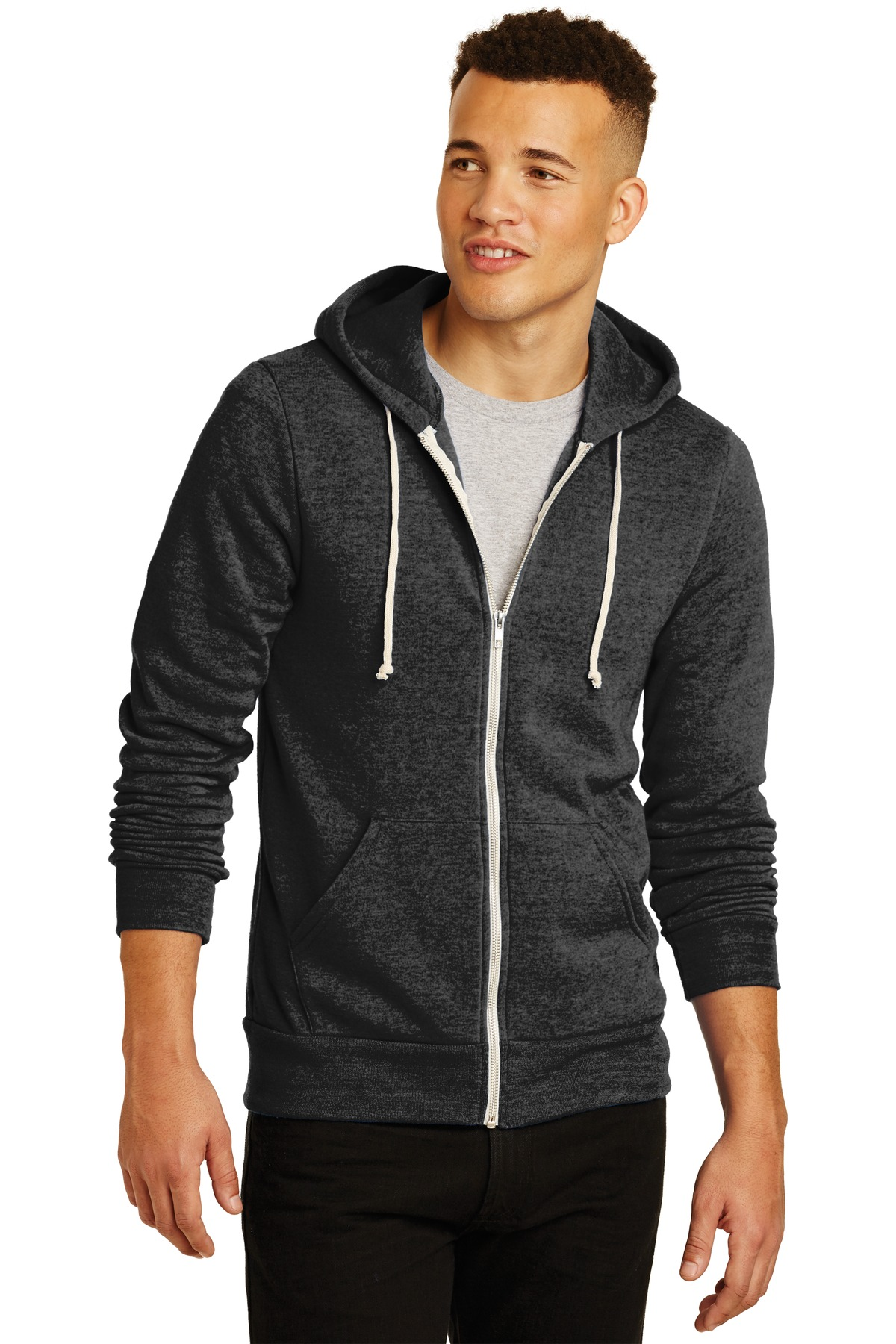 Alternative  Rocky Eco ™ -Fleece Zip Hoodie. AA9590 - Eco Black