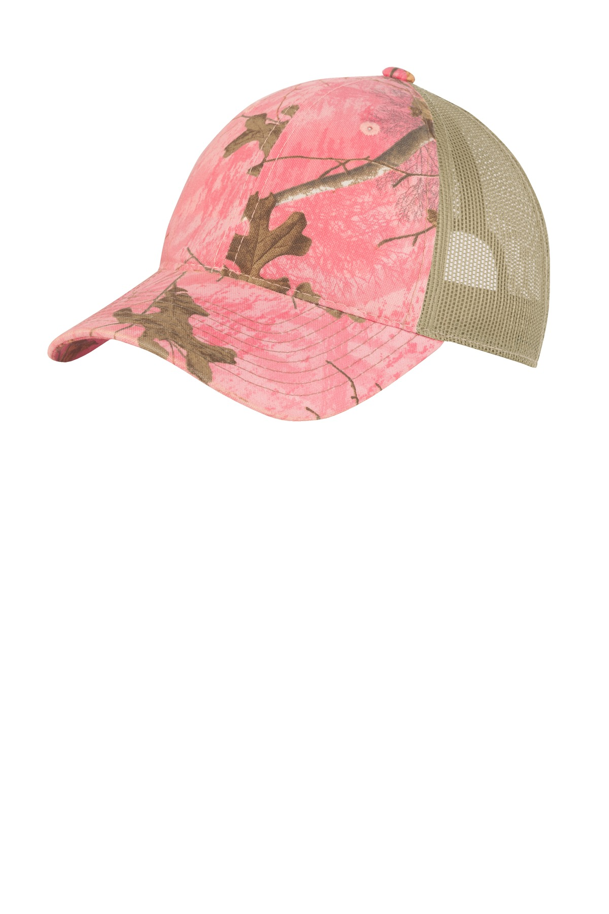 Port Authority ®  Unstructured Camouflage Mesh Back Cap. C929 - Realtree Xtra Pink/ Tan