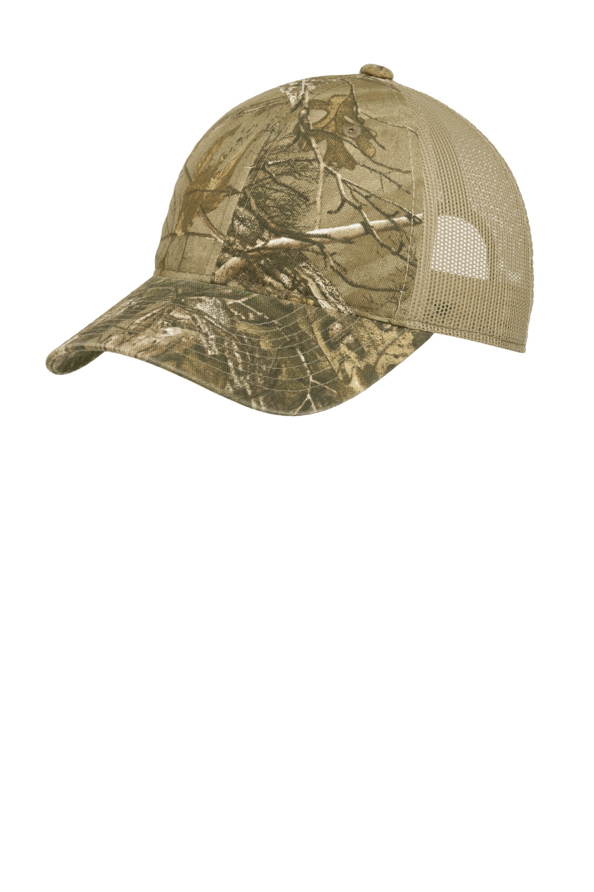 Port Authority ®  Unstructured Camouflage Mesh Back Cap. C929 - Realtree Xtra/ Tan