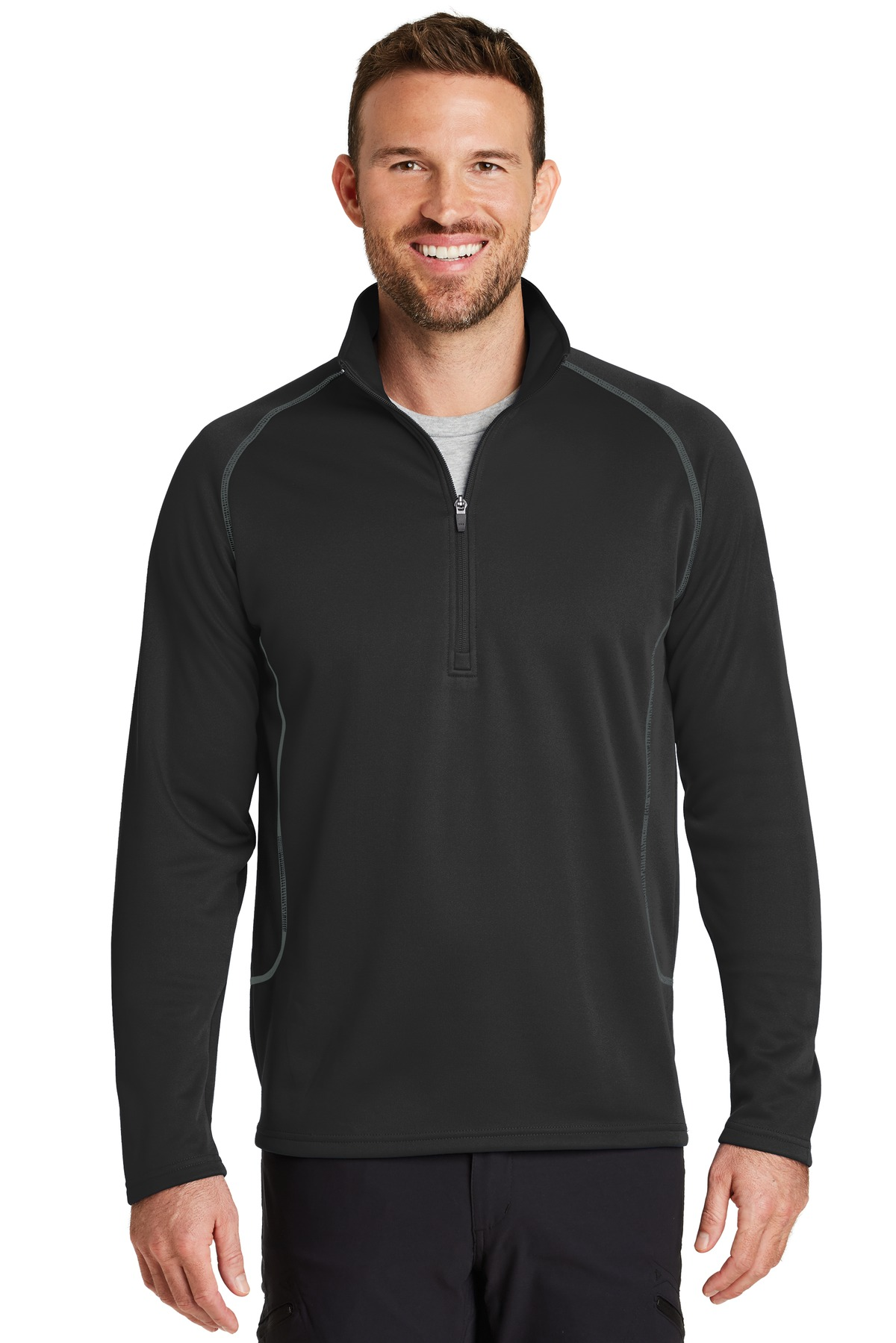 Eddie Bauer ®  Smooth Fleece Base Layer 1/2-Zip. EB236 - Black