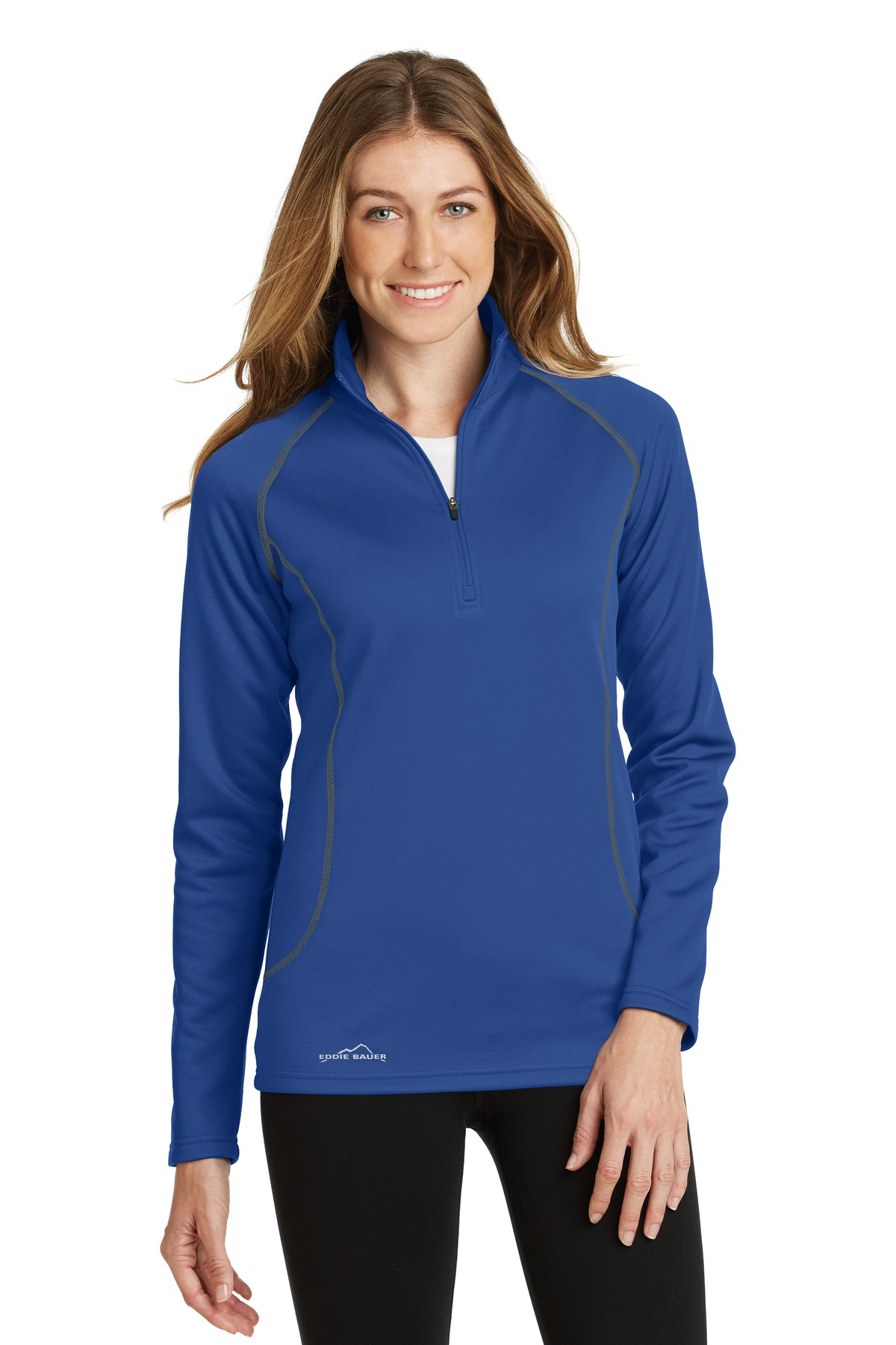 Eddie Bauer Ladies 1/2-Zip Base Layer Fleece. EB237