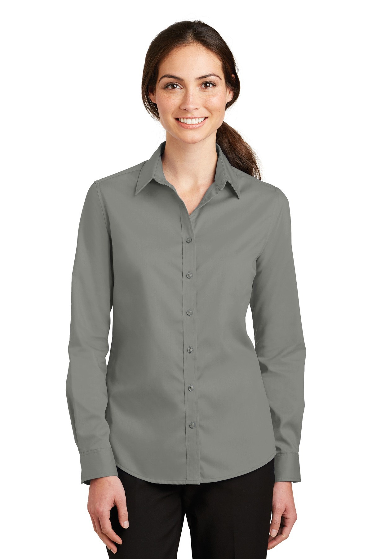Port Authority ®  Ladies SuperPro ™  Twill Shirt. L663 - Monument Grey